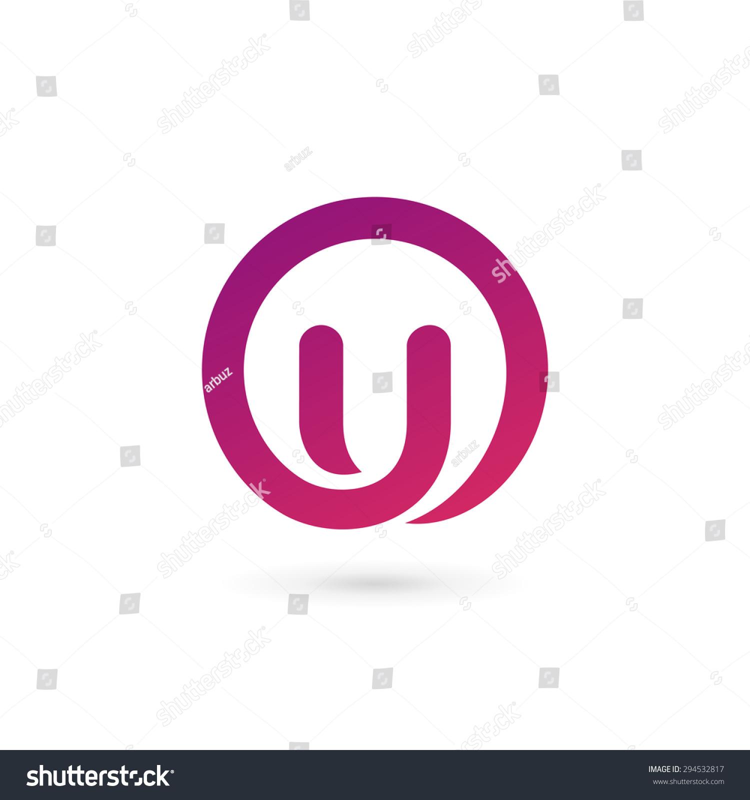 letter u logo icon design template stock photo photo vector