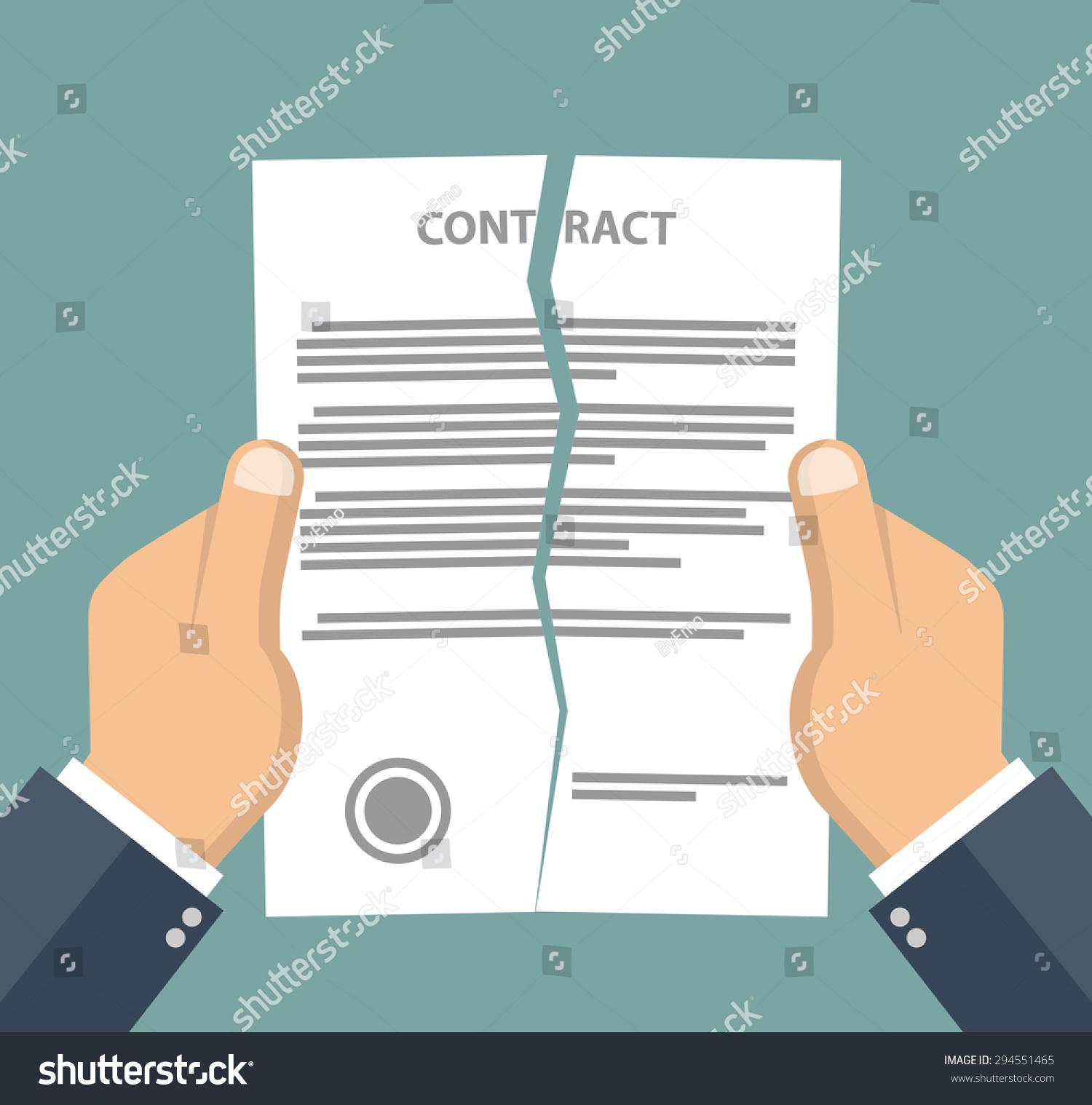 contract termination concept businessman hands tearing stock contract termination concept businessman hands tearing apart a contract flat style