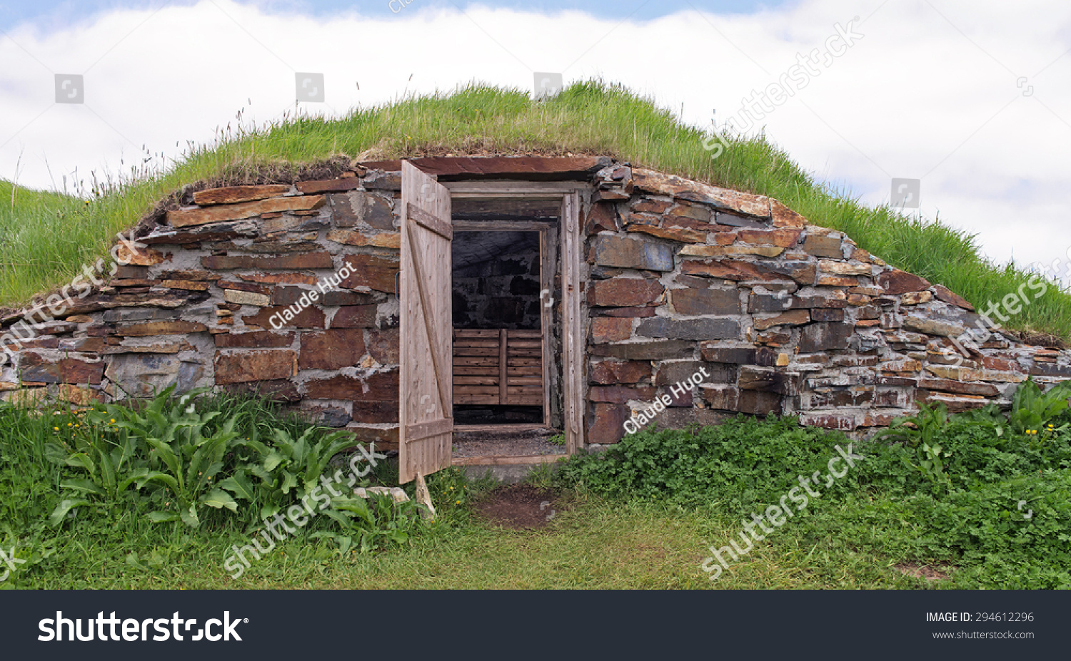 "Root cellar in Elliston who declared itself the ""Root Cellar of the World"", Newfoundland, Canada."