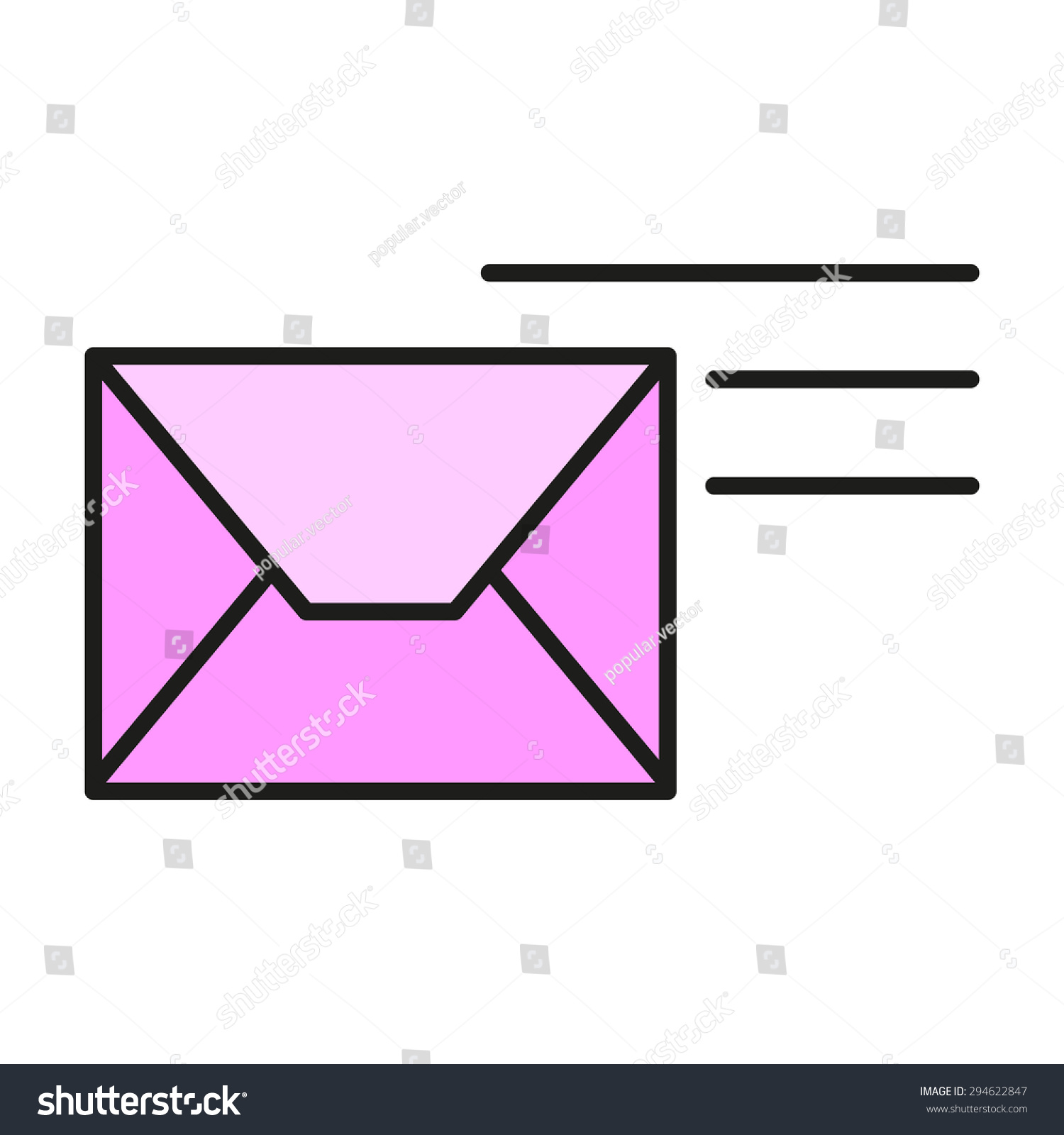 Send Message Letter Email SMS Email Stock Vector 294622847 ...