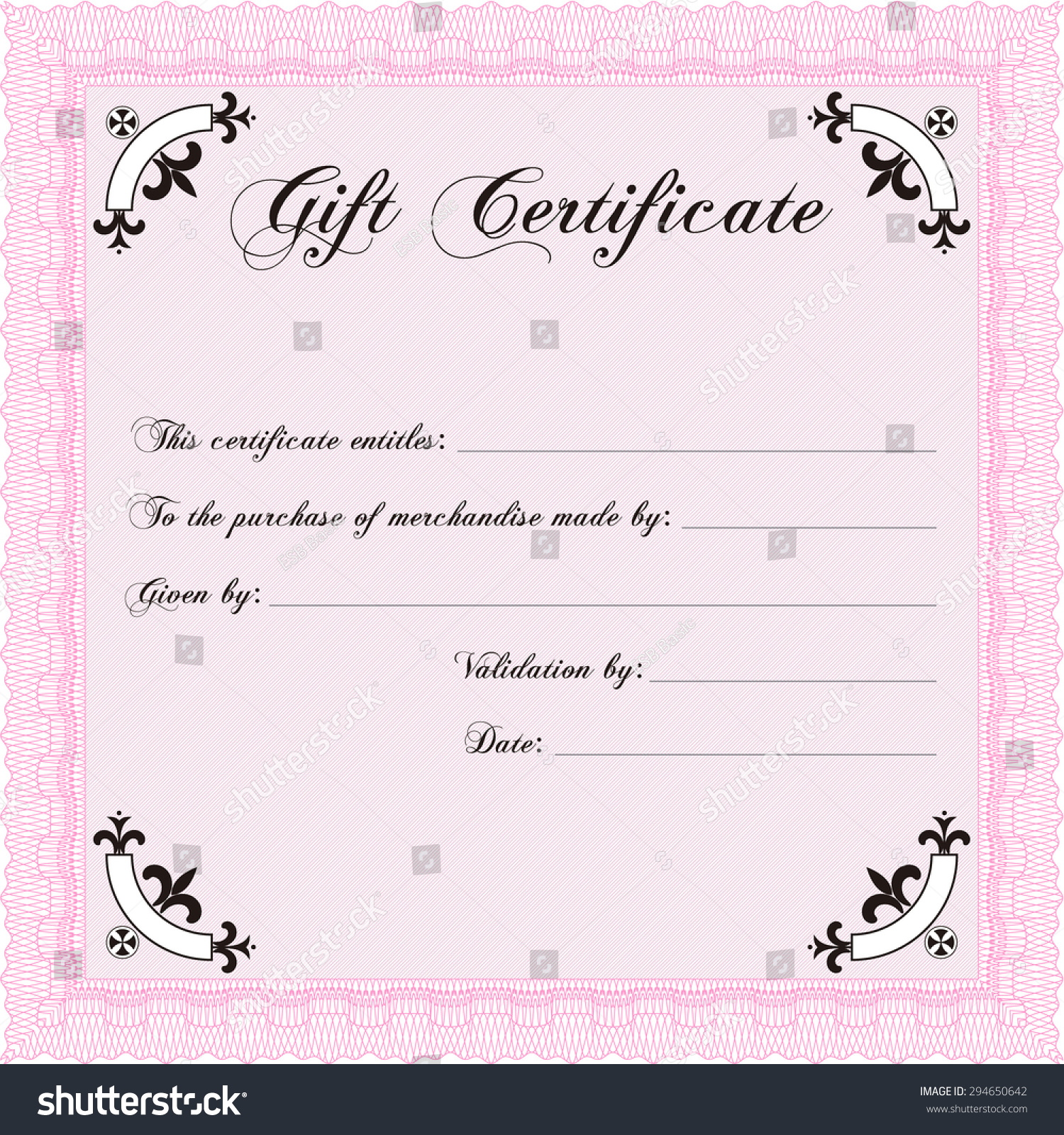 Formal Gift Certificate Template Excellent Design Vector – Formal Certificate Template