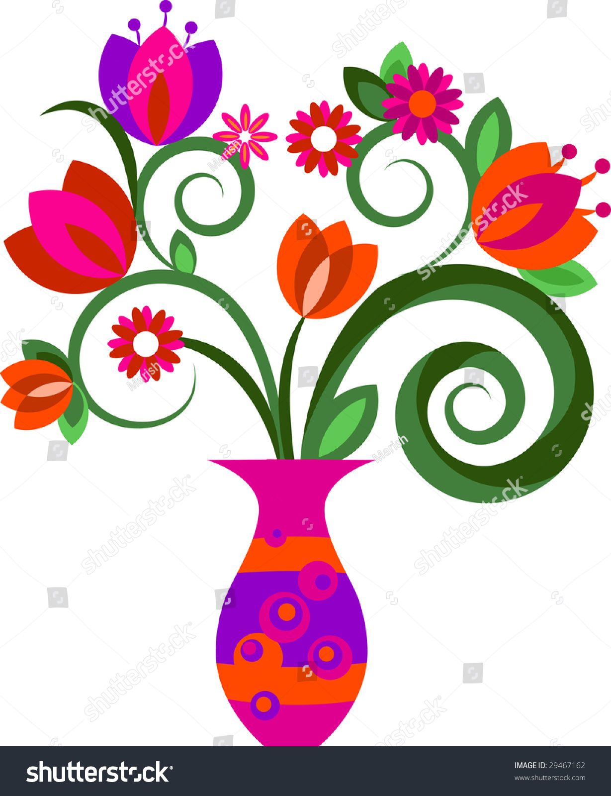 decorative flowers in a vase - Decorative Flowers