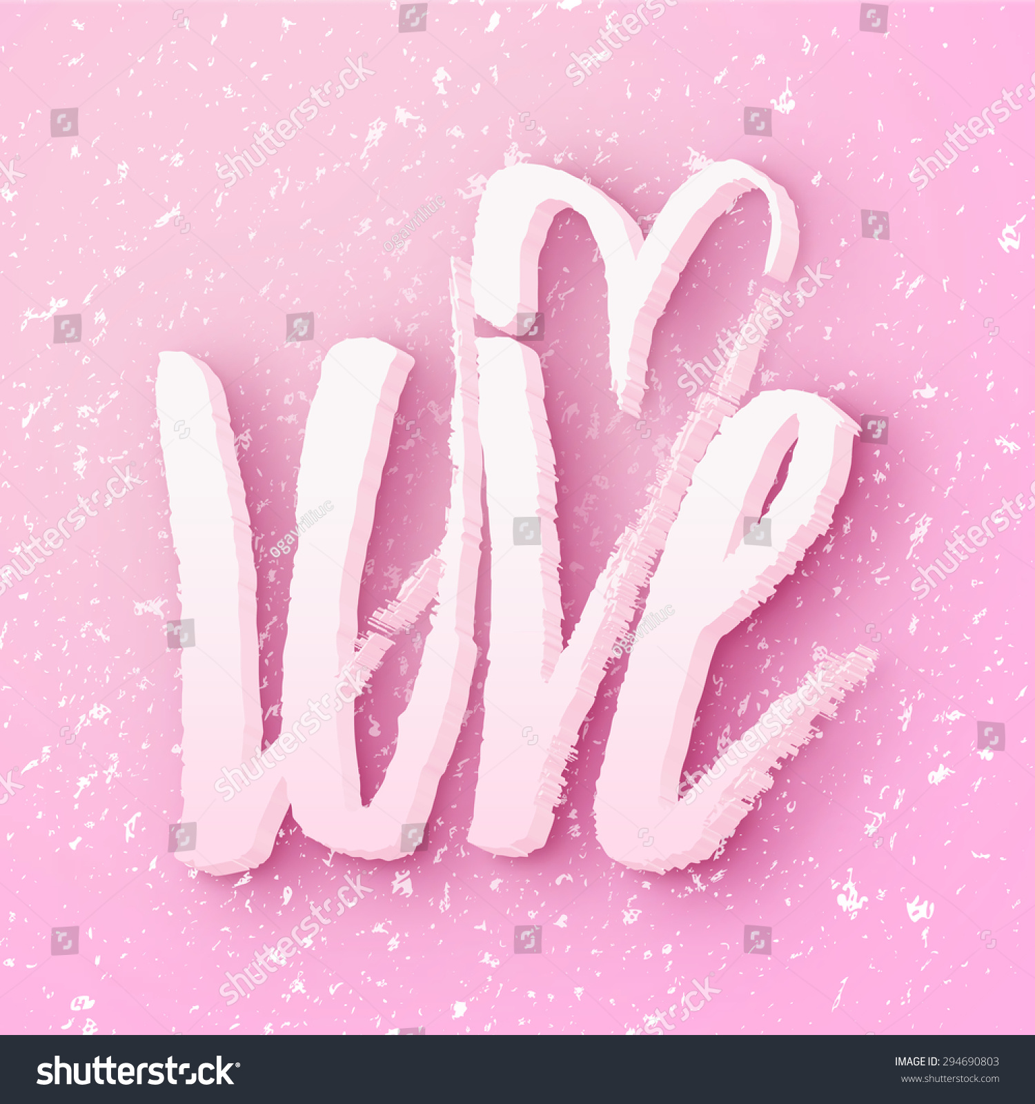 3 D Love Message Made Snowflakes Snow Stock Vector Royalty Free