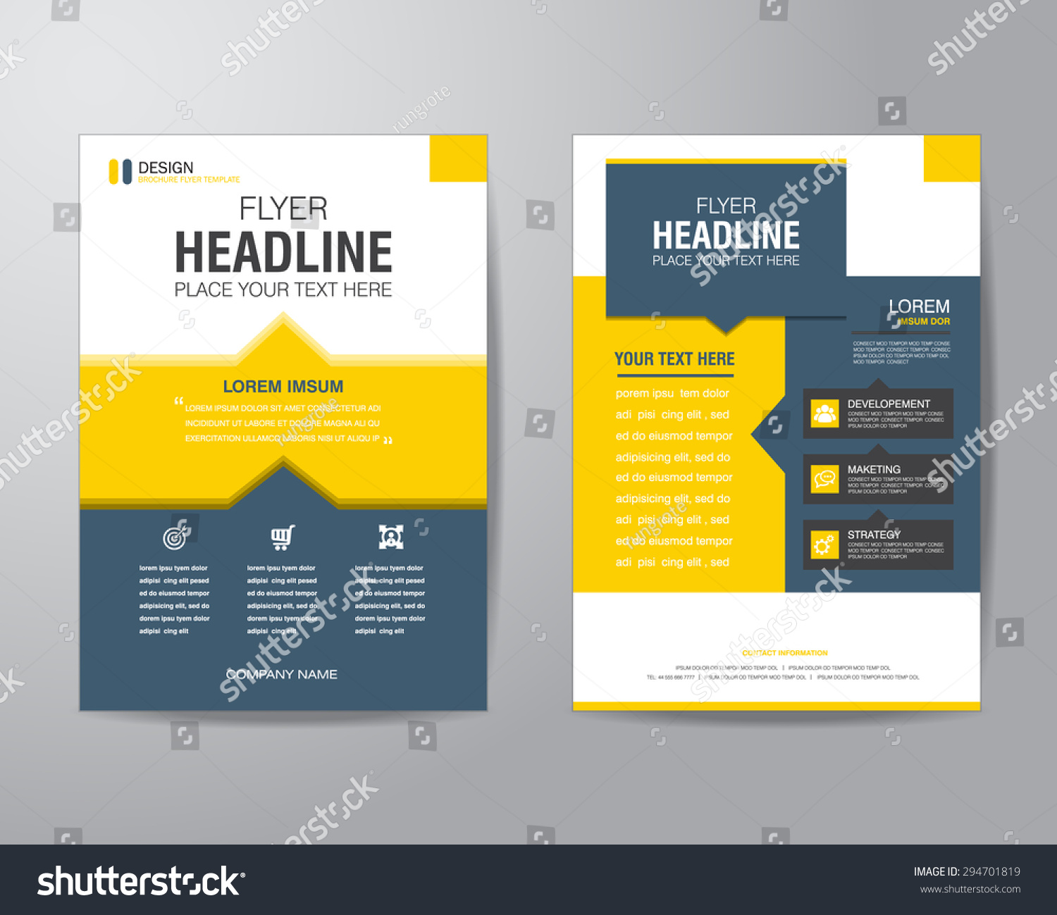 Business Brochure Flyer Design Layout Template Vector – Business Brochure Design