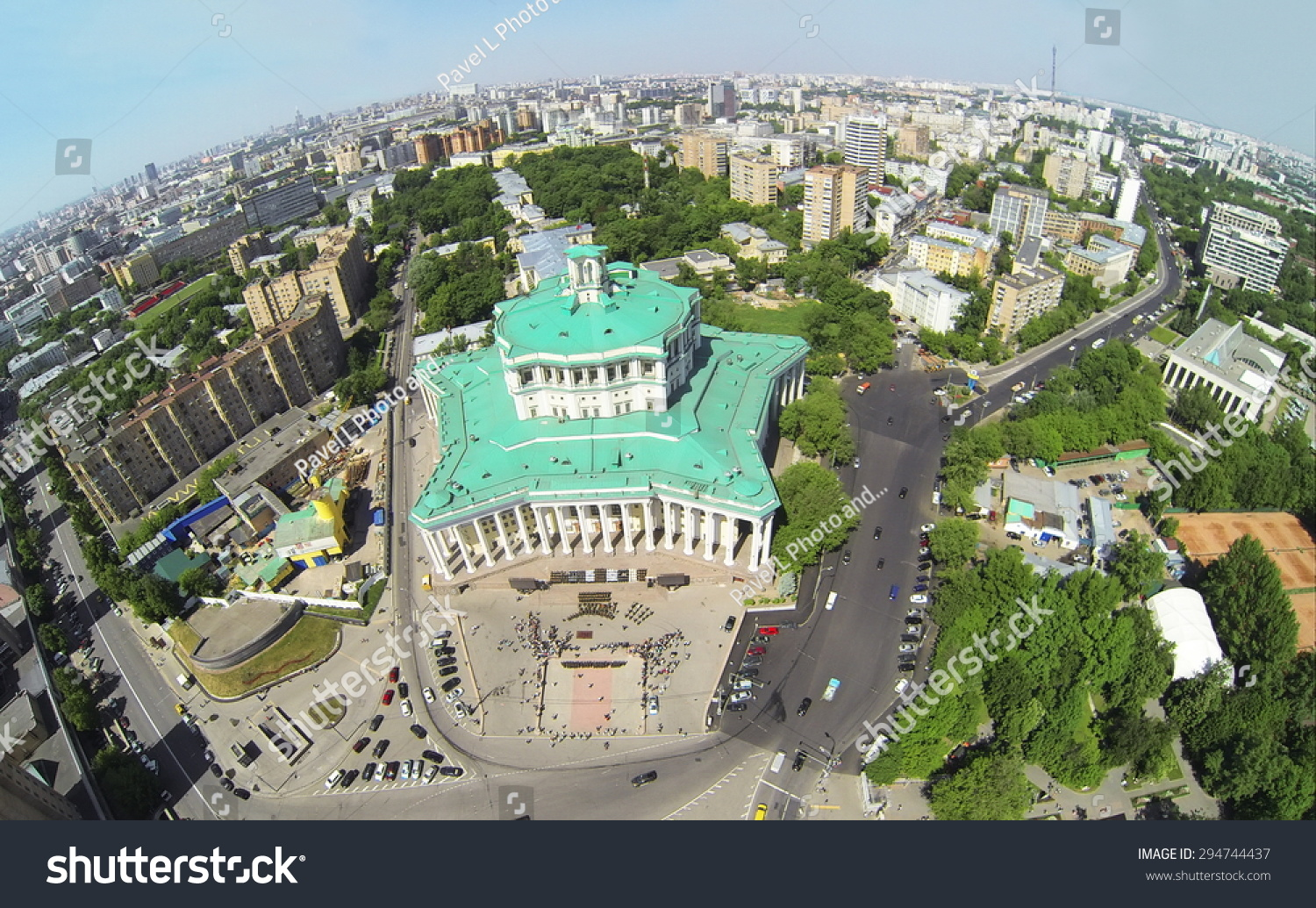 RUSSIA MOSCOW MAY 20 2014 Cityscape Stock Photo (Edit Now