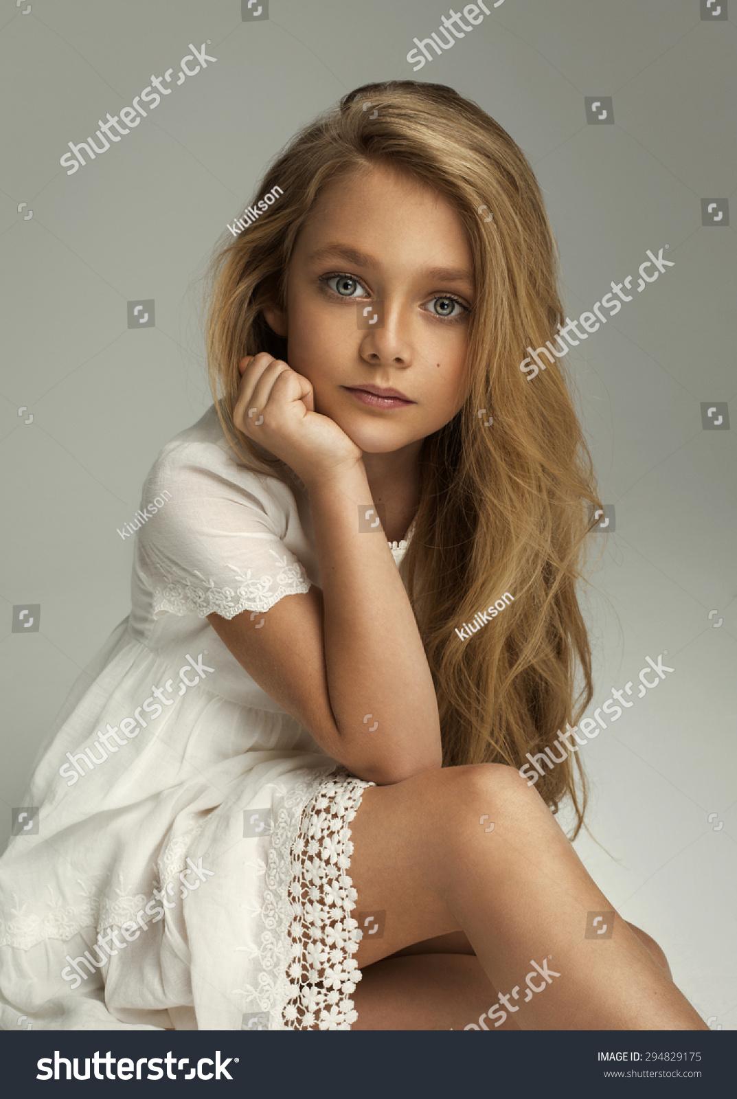 pretty little girl Portrait of pretty little girl
