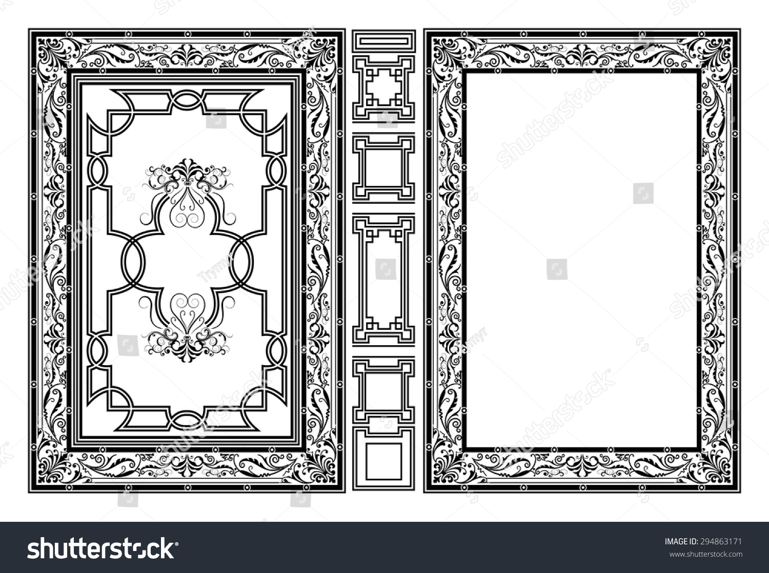 How To Make A Decorative Book Cover : Vector classical book cover decorative vintage stock