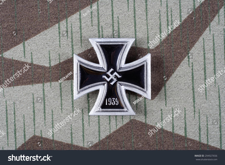 Nazi German Award Iron Cross On Stock Photo Edit Now 294927656