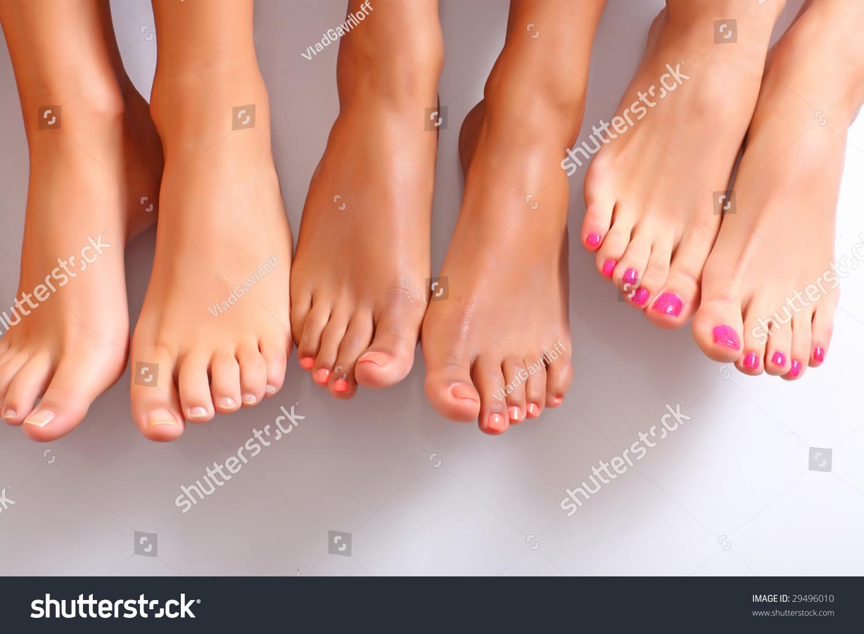 wellgroomed bared foot female feet stock photo (royalty free