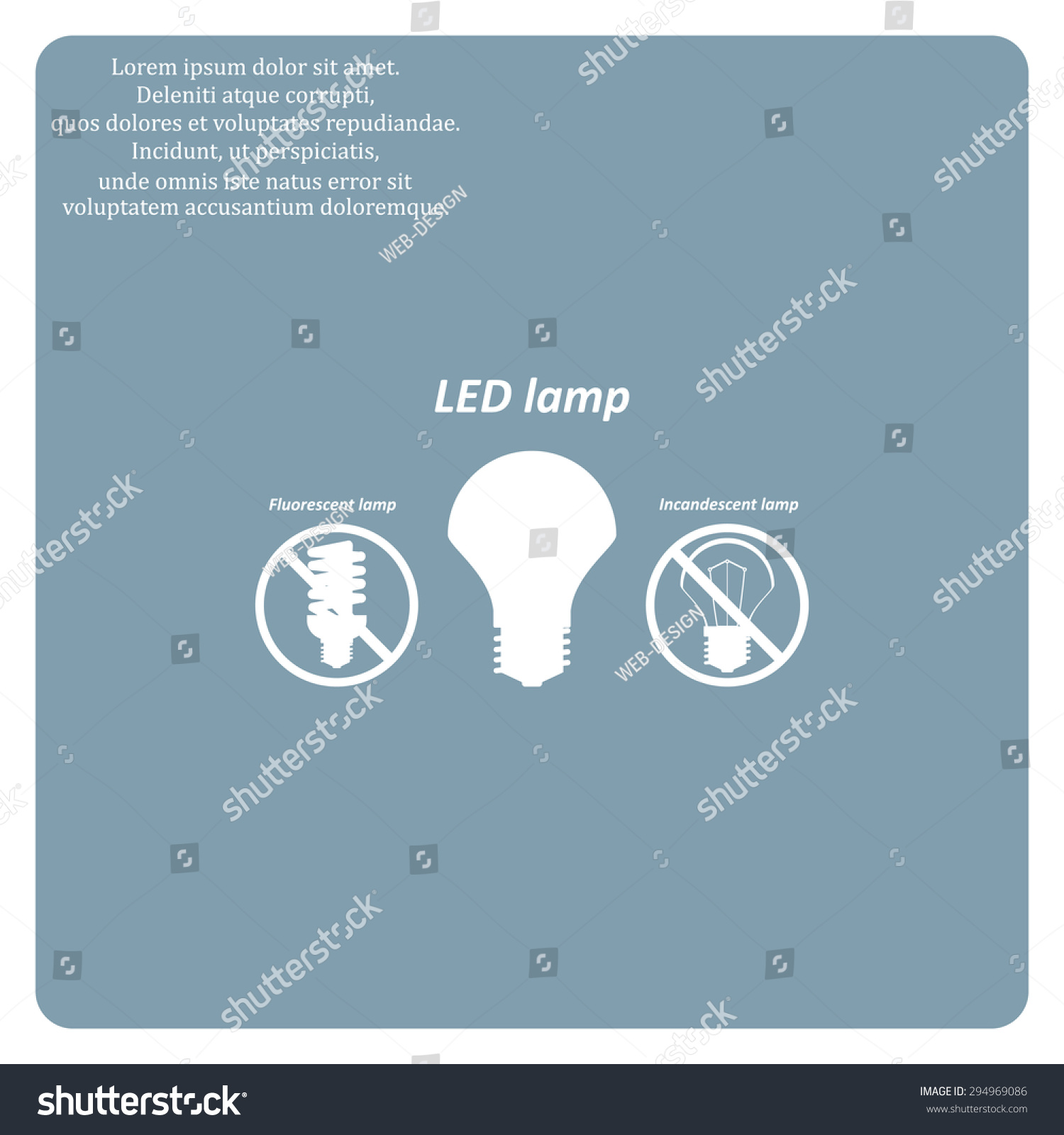 Fluorescent Lamp Led Incandescent Bulb Stock Vector Royalty Diagram Of The Light How Flourescent Icon Design