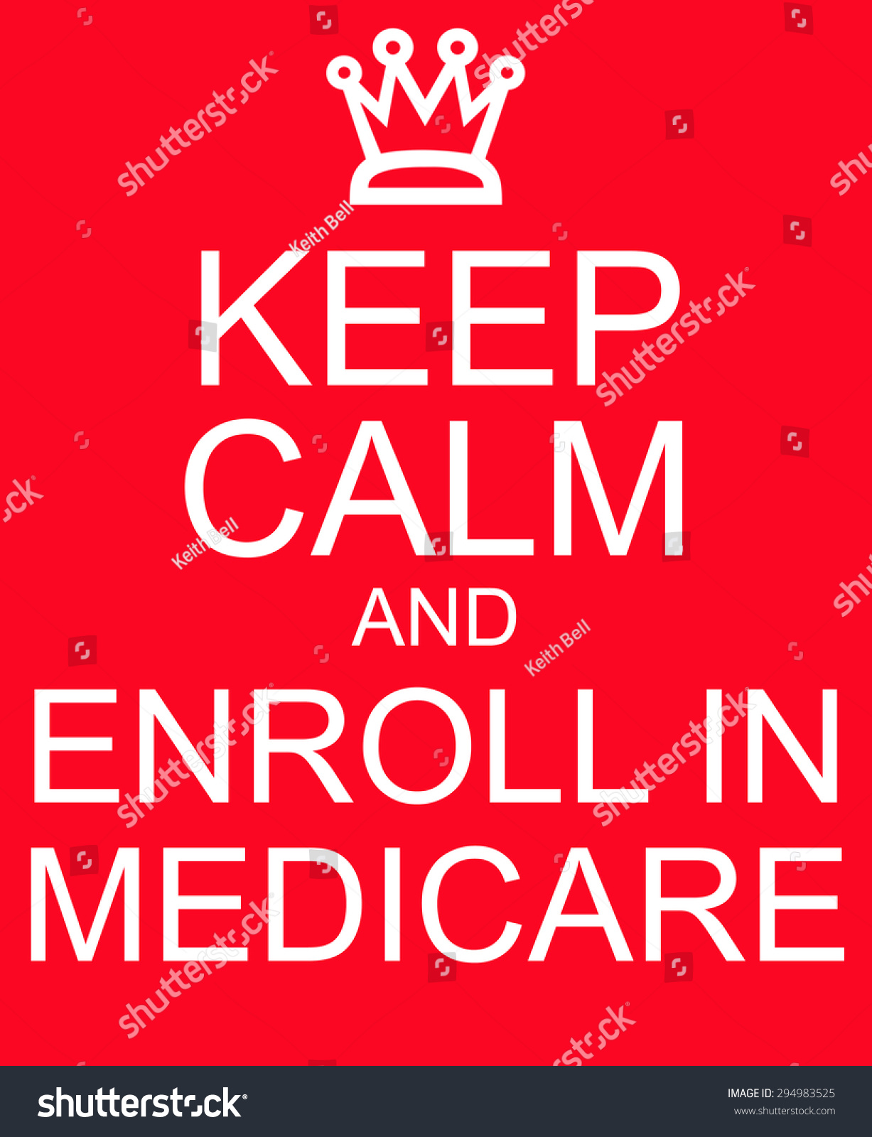 keep calm enroll medicare red sign stock illustration 294983525