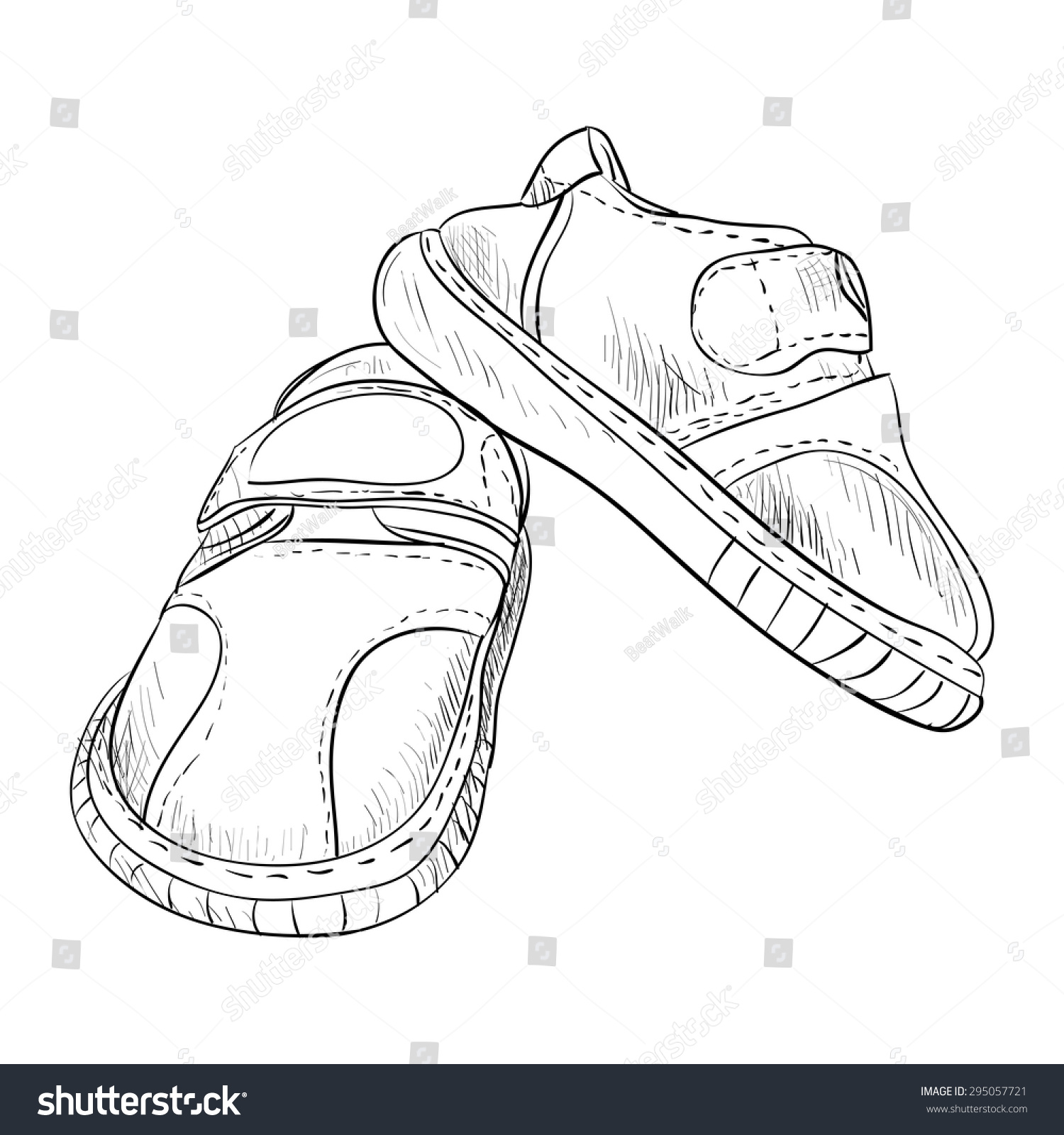 Uncategorized Draw Boots vector sketch kid boots hand draw stock 295057721 of illustration