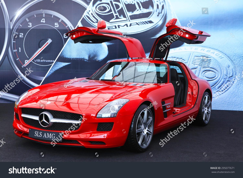 Hanoi Vietnam May 15 2015 Mercedes Benz Sls Amg Car With Open