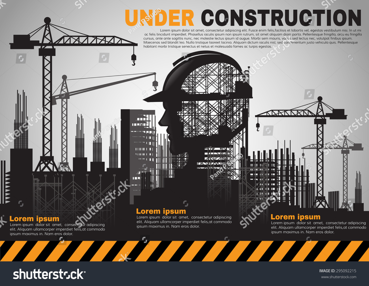 Building under construction site construction infographics for Simple under construction html template