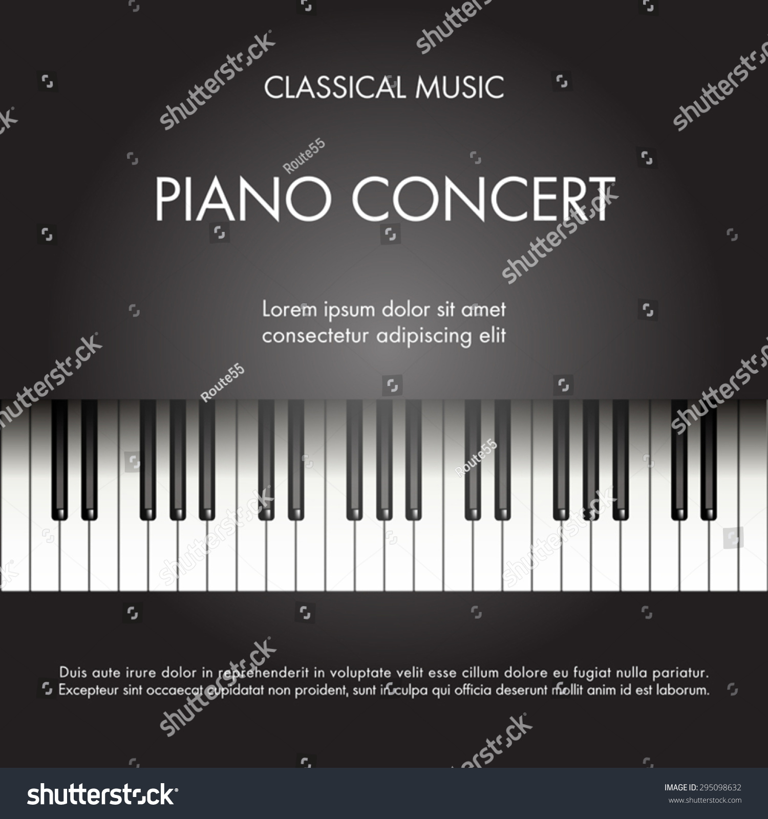 Piano Background Music: Classic Music Piano Background Poster Web Stock Vector