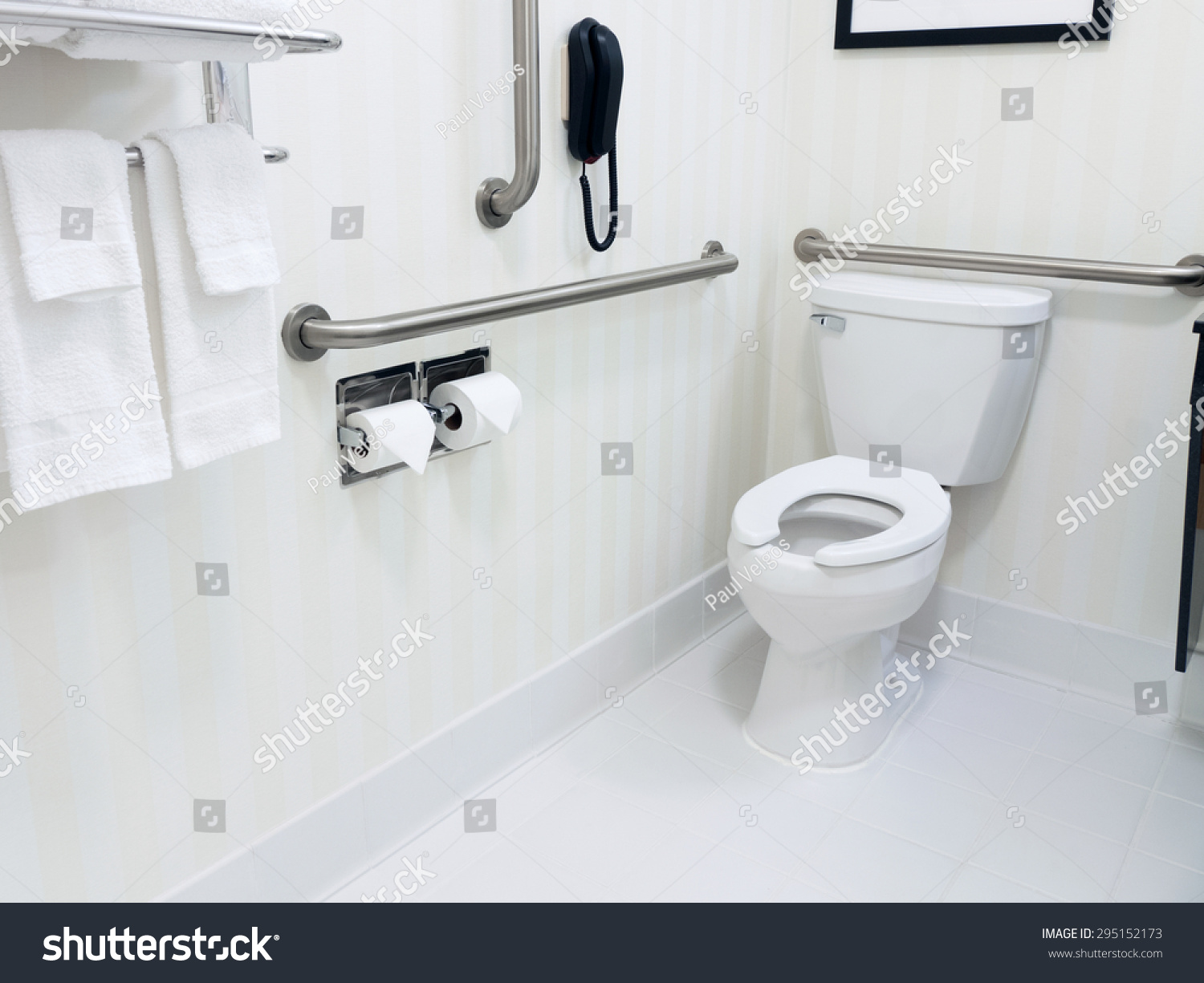 Handicapped Access Bathroom Grab Bars Toilet Stock Photo (Edit Now ...
