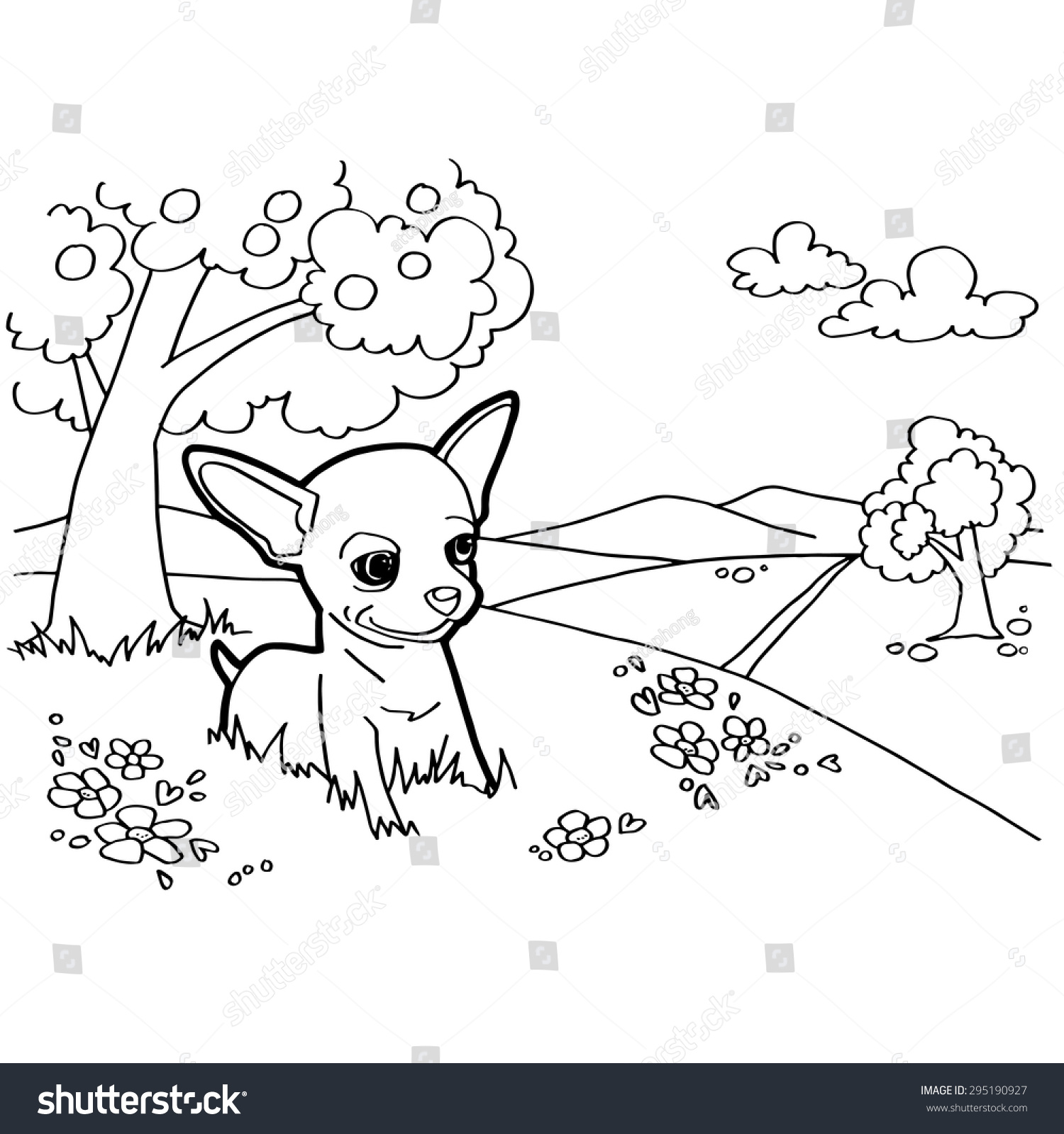 Coloring Book Dogs House Stock Vector 295190927 - Shutterstock