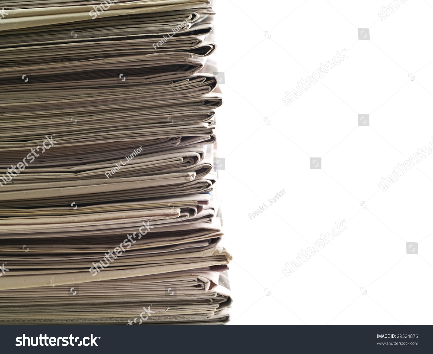 Old Newspapers Stacked Top Bottom Frame Stock Photo (Edit Now ...