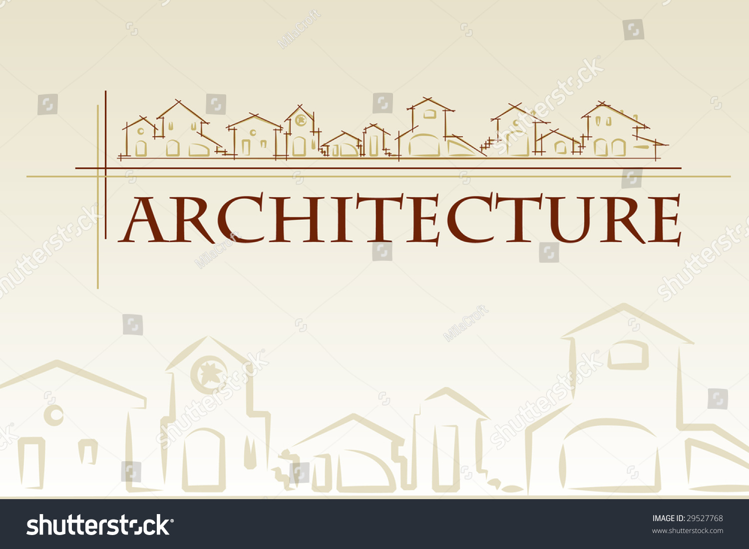 Architecture construction company brochure business card stock architecture construction company brochure or business card template classic style magicingreecefo Images