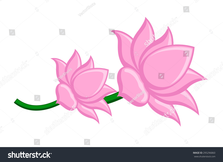 Lotus flowers vector clipart stock vector royalty free 295296860 lotus flowers vector clipart izmirmasajfo
