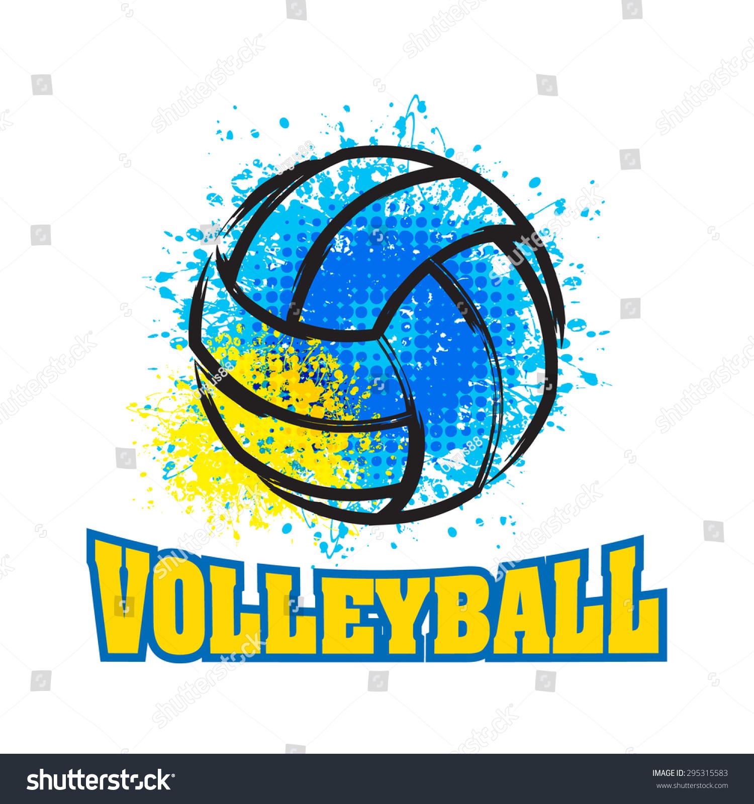 T shirt poster design - Vector Grunge Volleyball T Shirt Poster Banner Backdrops Design