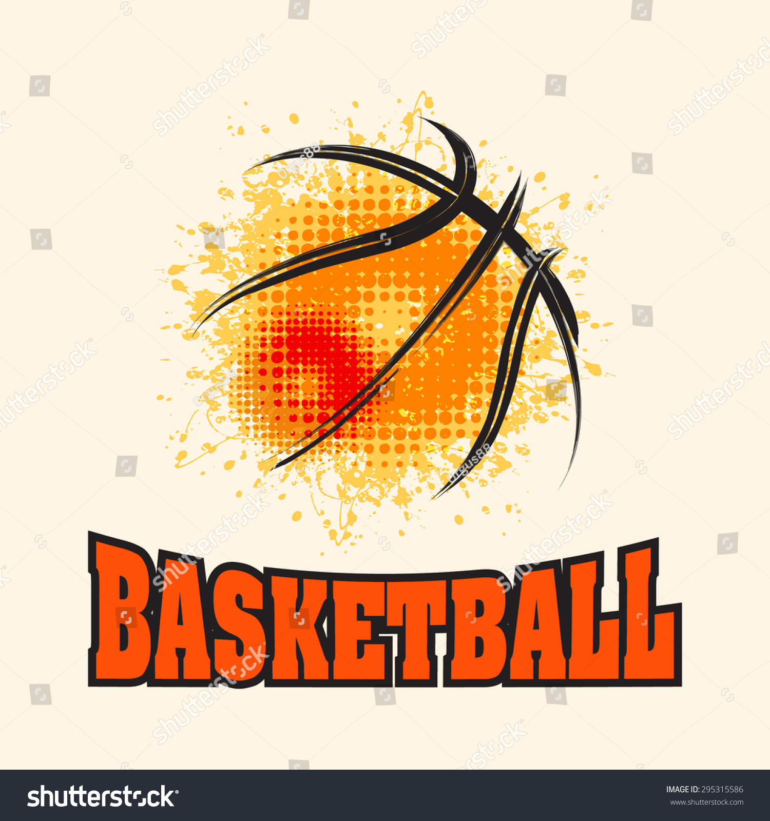 T shirt poster design - Vector Grunge Basketball T Shirt Poster Banner Backdrops Design