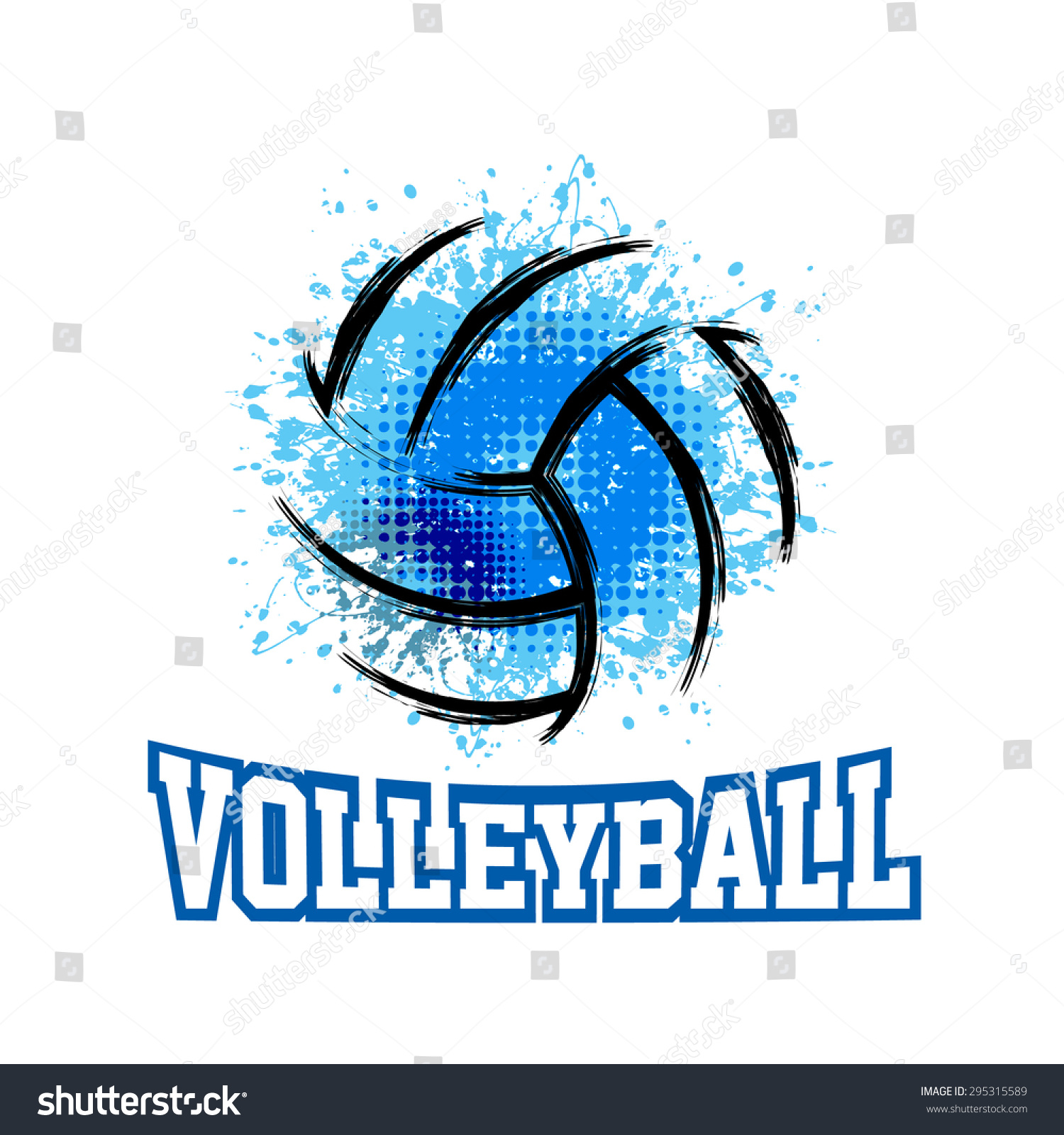 T shirt poster design - Vector Grunge Volleyball T Shirt Poster Banner Backdrops Design