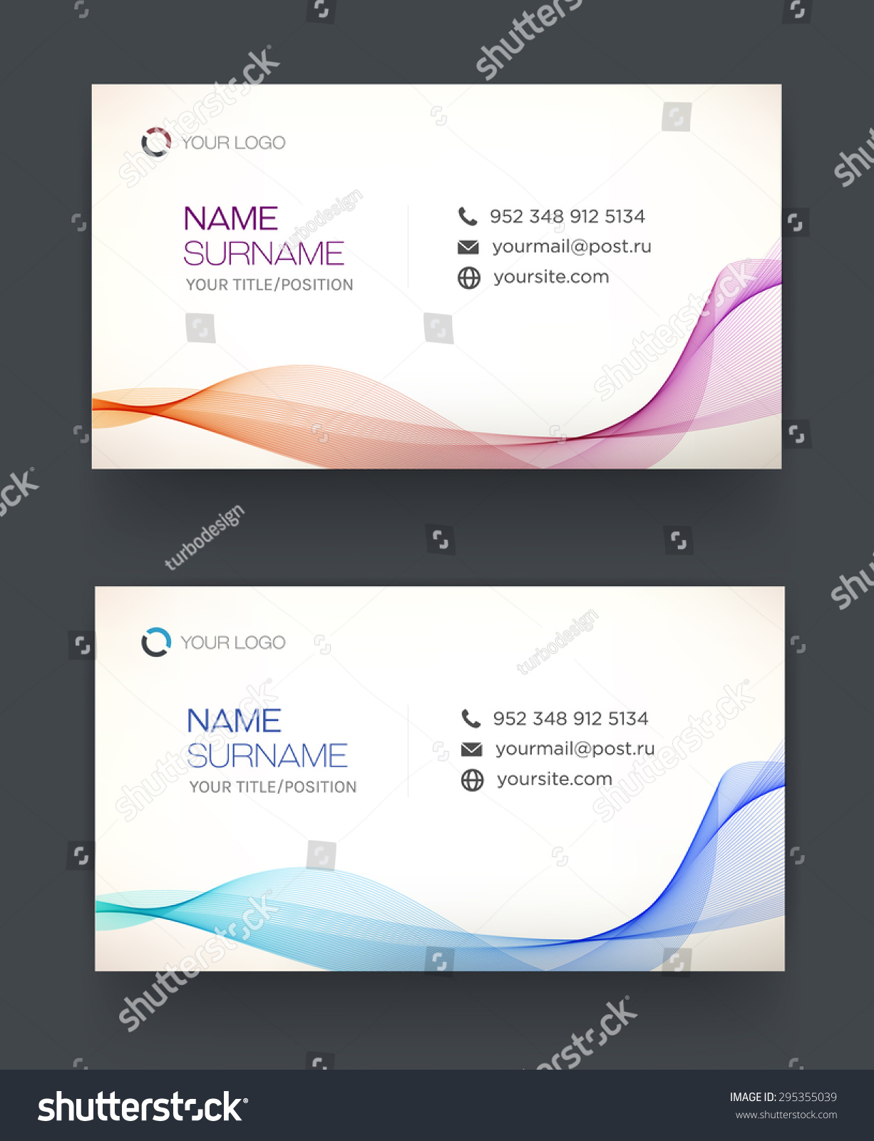 Business Card Template Vector Design Editable Stock Vector ...