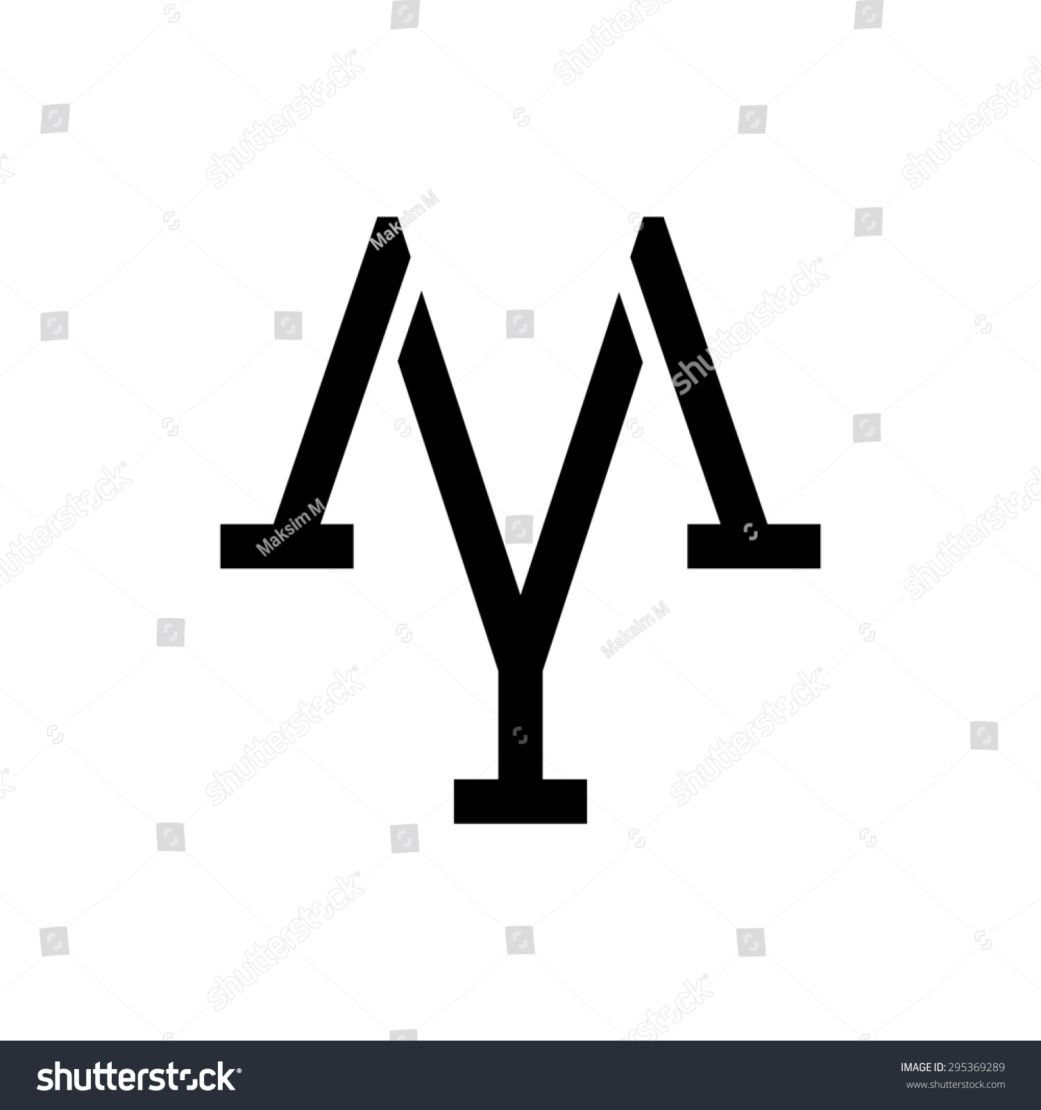 letter m y logo template monogramのイラスト素材 295369289 shutterstock
