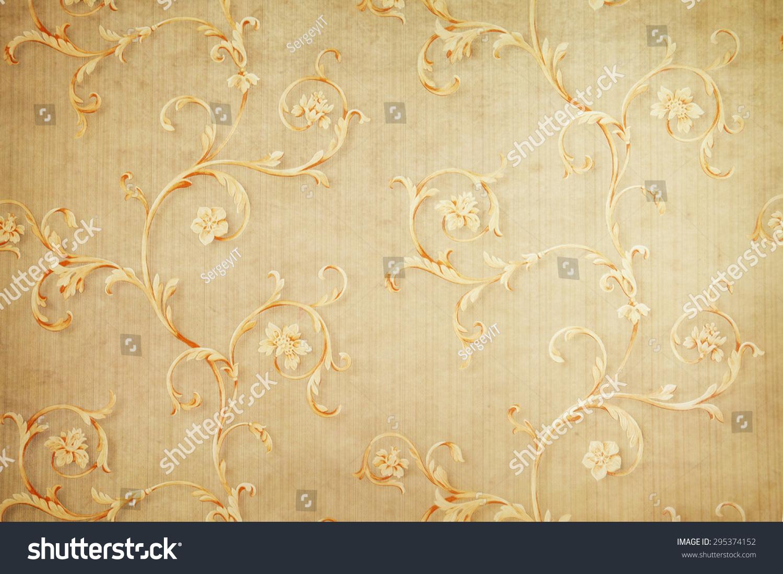 Vintage Floral Wallpaper Background Stock Photo Edit Now 295374152