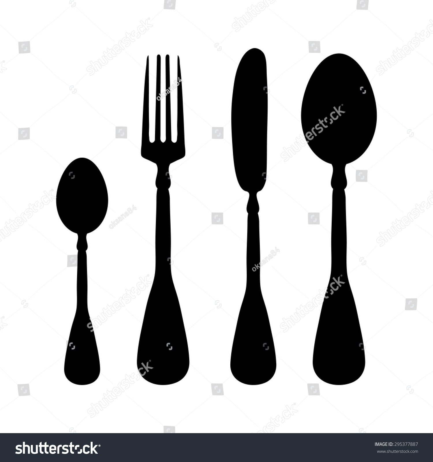 fork knife spoon vector icon 295377887 shutterstock