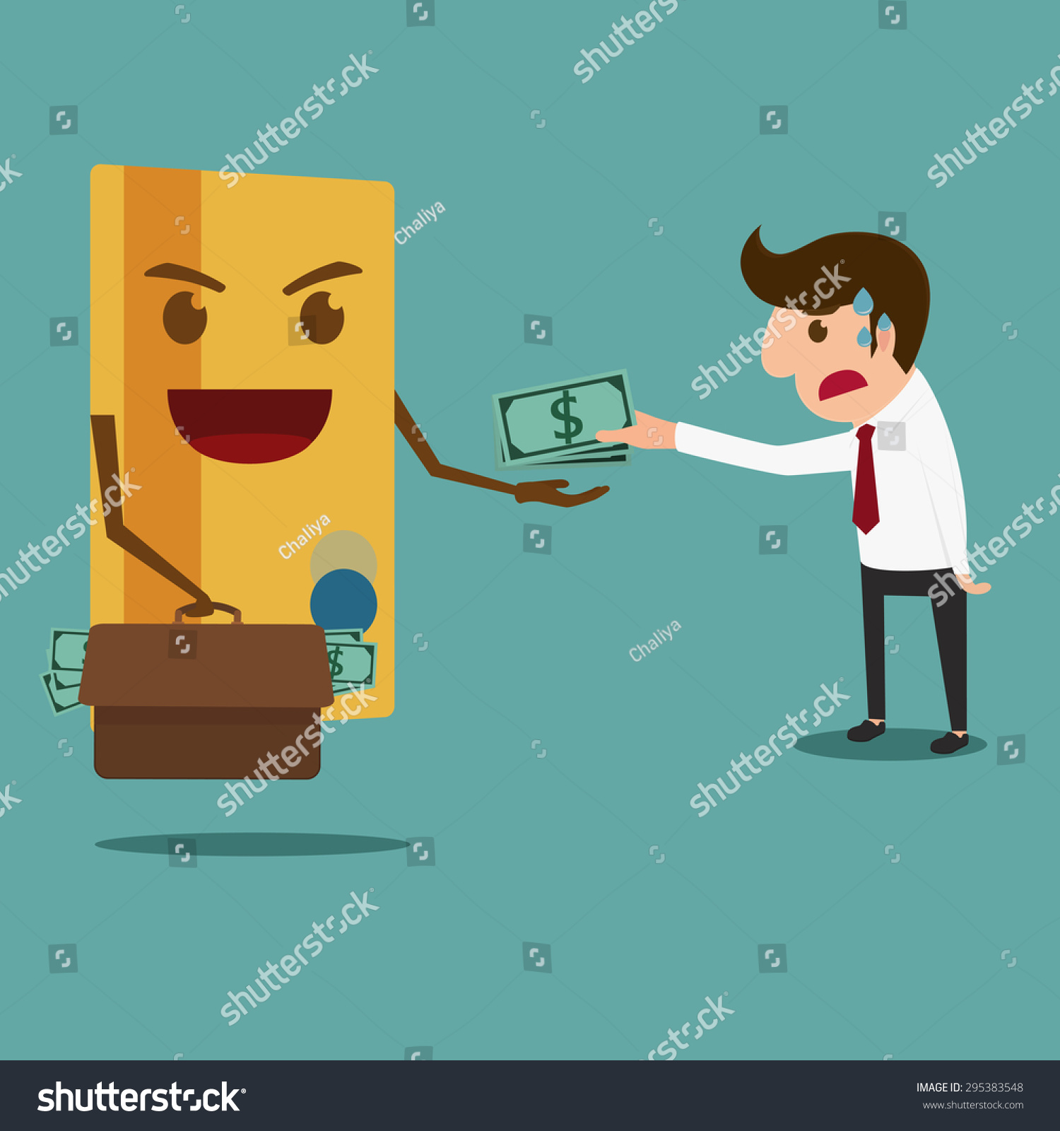 business man pay money credit card stock vector