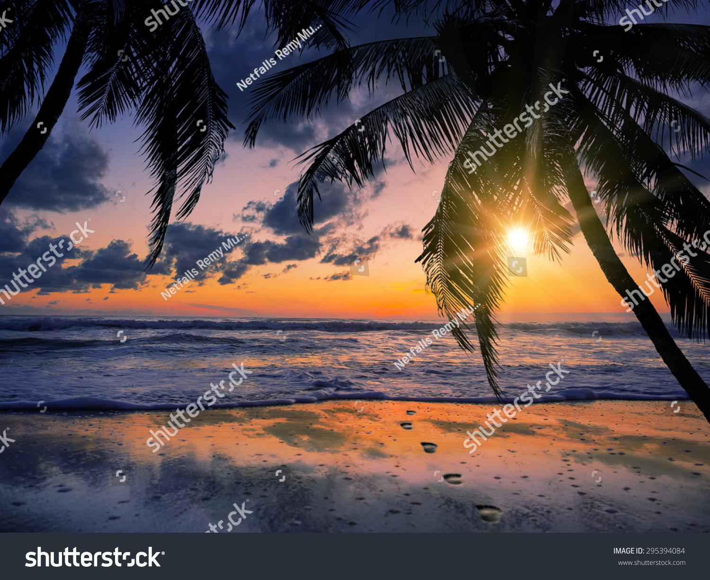 Sea Sunrise In Koh Samui Island, Thailand. Stock Photo ...