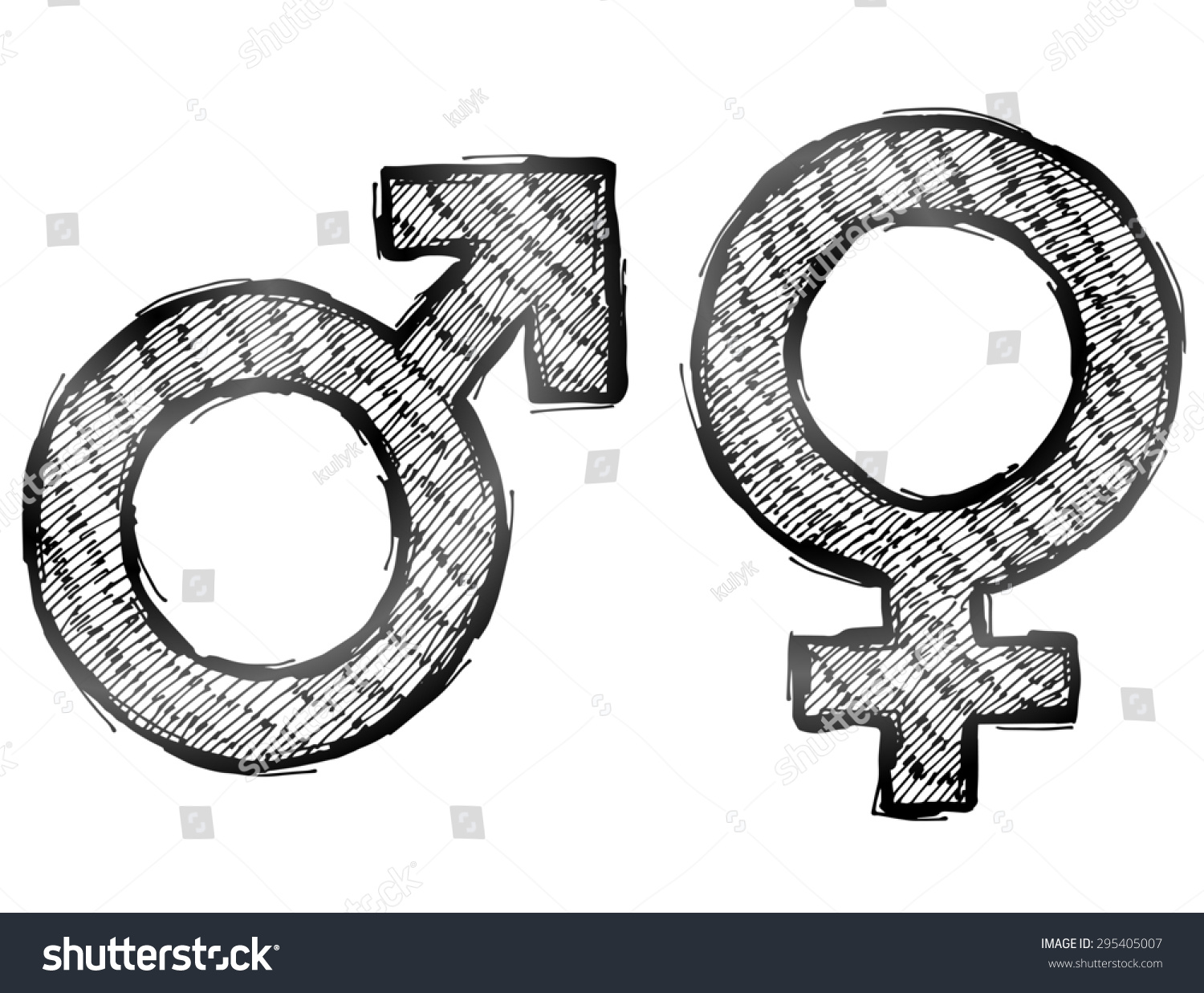 Hand drawn gender symbols light hatching stock illustration hand drawn gender symbols with light hatching sketch of man and woman signs in doodle biocorpaavc