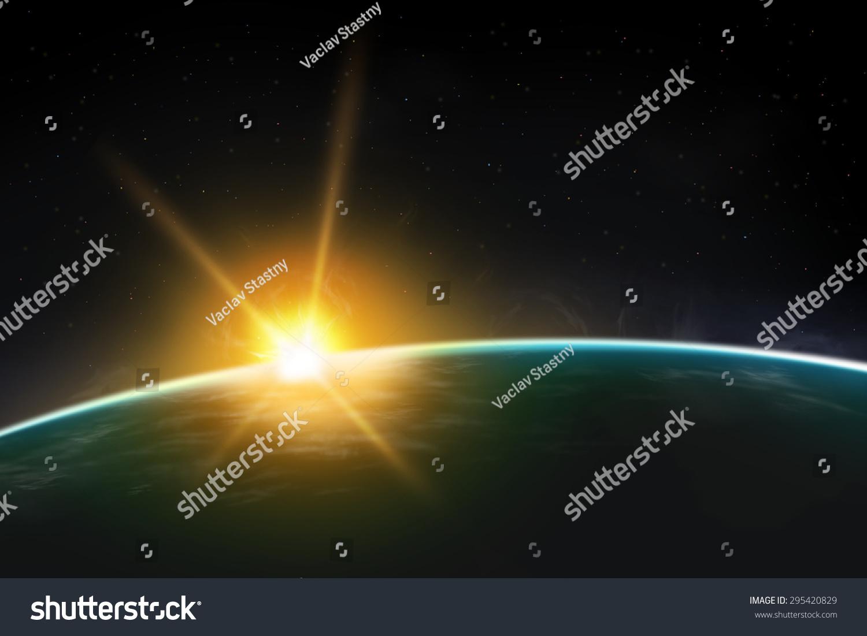 View Planet Sunrise Sunset Beautiful Universe 295420829