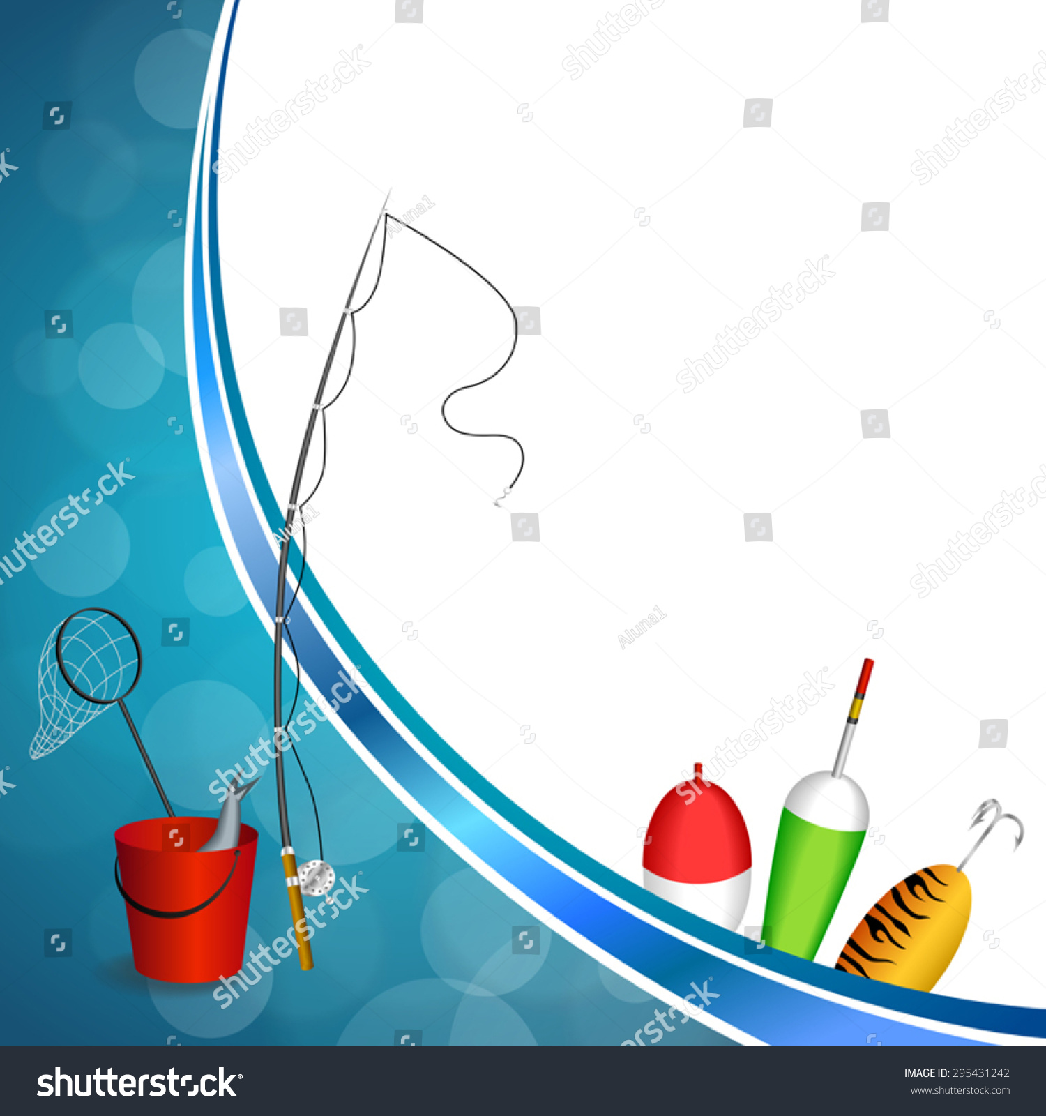 Background Abstract Blue White Fishing Rod Stock Vector (Royalty ...