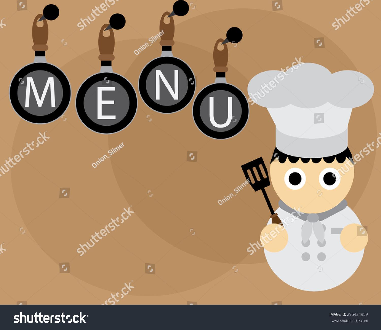 Menu Wallpaper Chef White Grey Pans 295434959