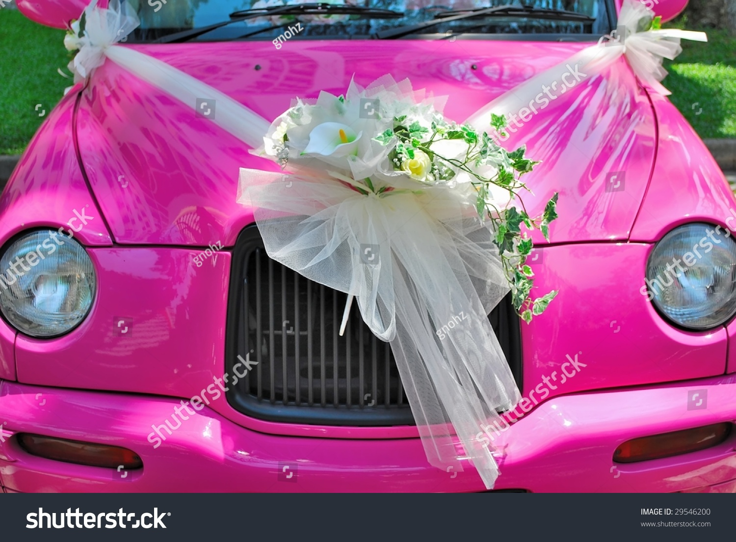 Pink Classicstyled Wedding Car Bouquet Flowers Stock Photo (Royalty ...