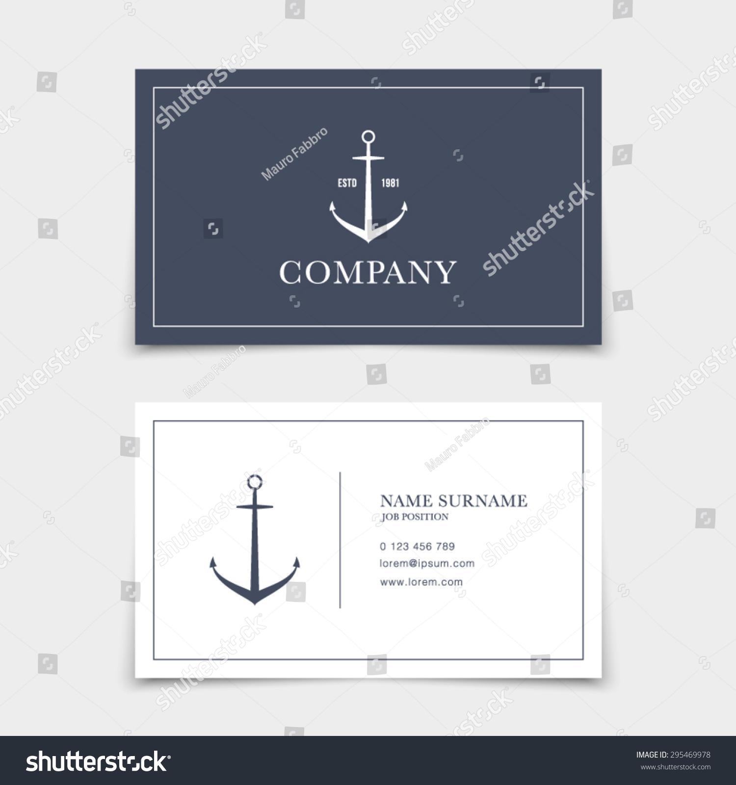 Business Card Retro Vintage Logo Marine Stock Vector 295469978 ...