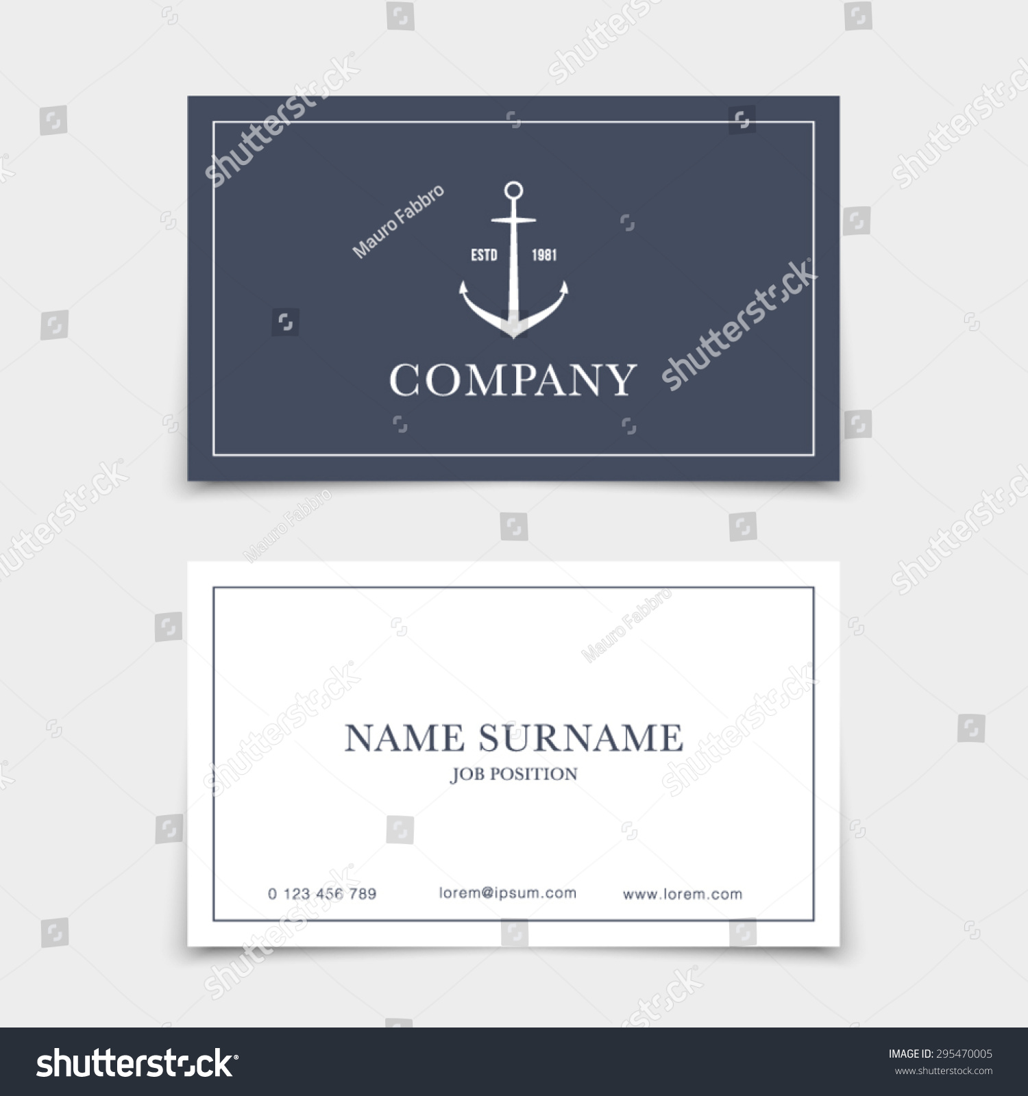 Business Card Retro Vintage Logo Marine Stock Vector HD (Royalty ...
