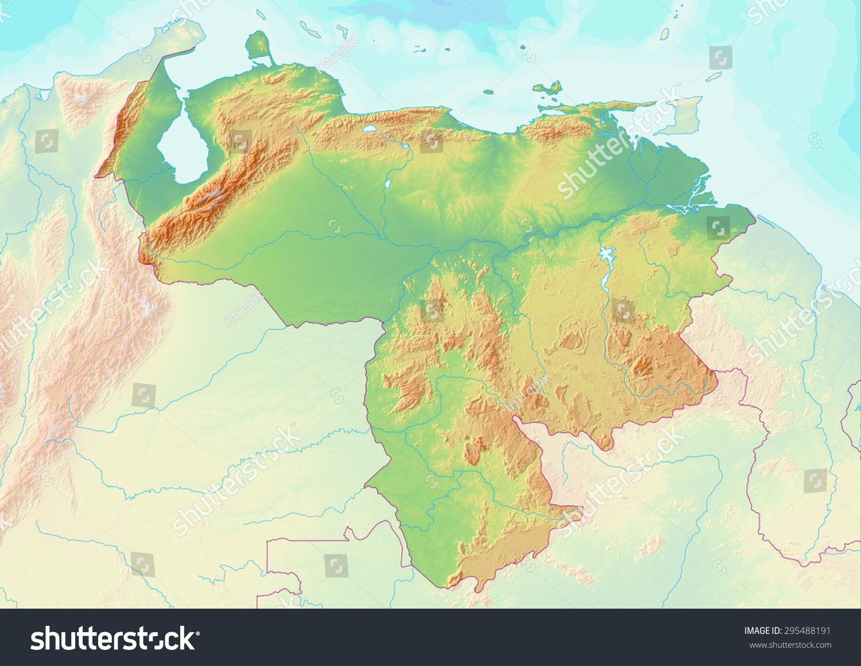 Venezuela Topographic Map.Royalty Free Stock Illustration Of Topographic Map Venezuela Shaded