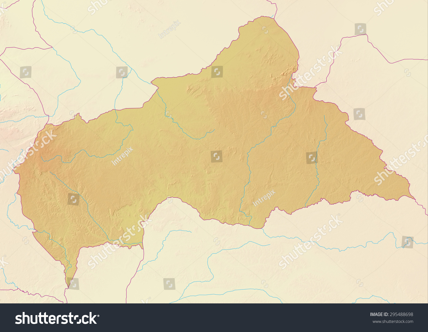 Royalty Free Stock Illustration Of Topographic Map Central African