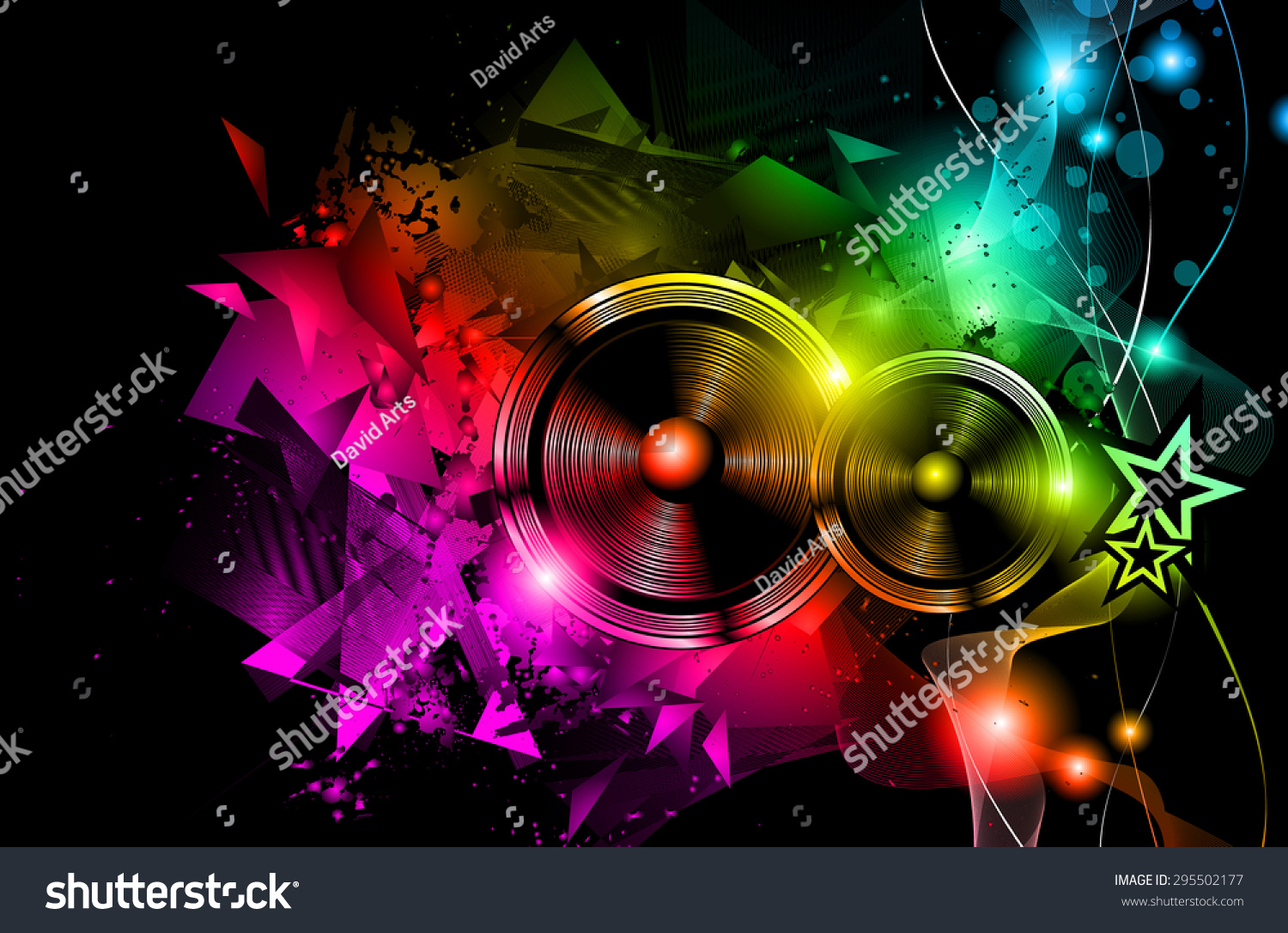 Disco Night Club Flyer Layout Speaker Vector 295502177 – Night Club Flyer