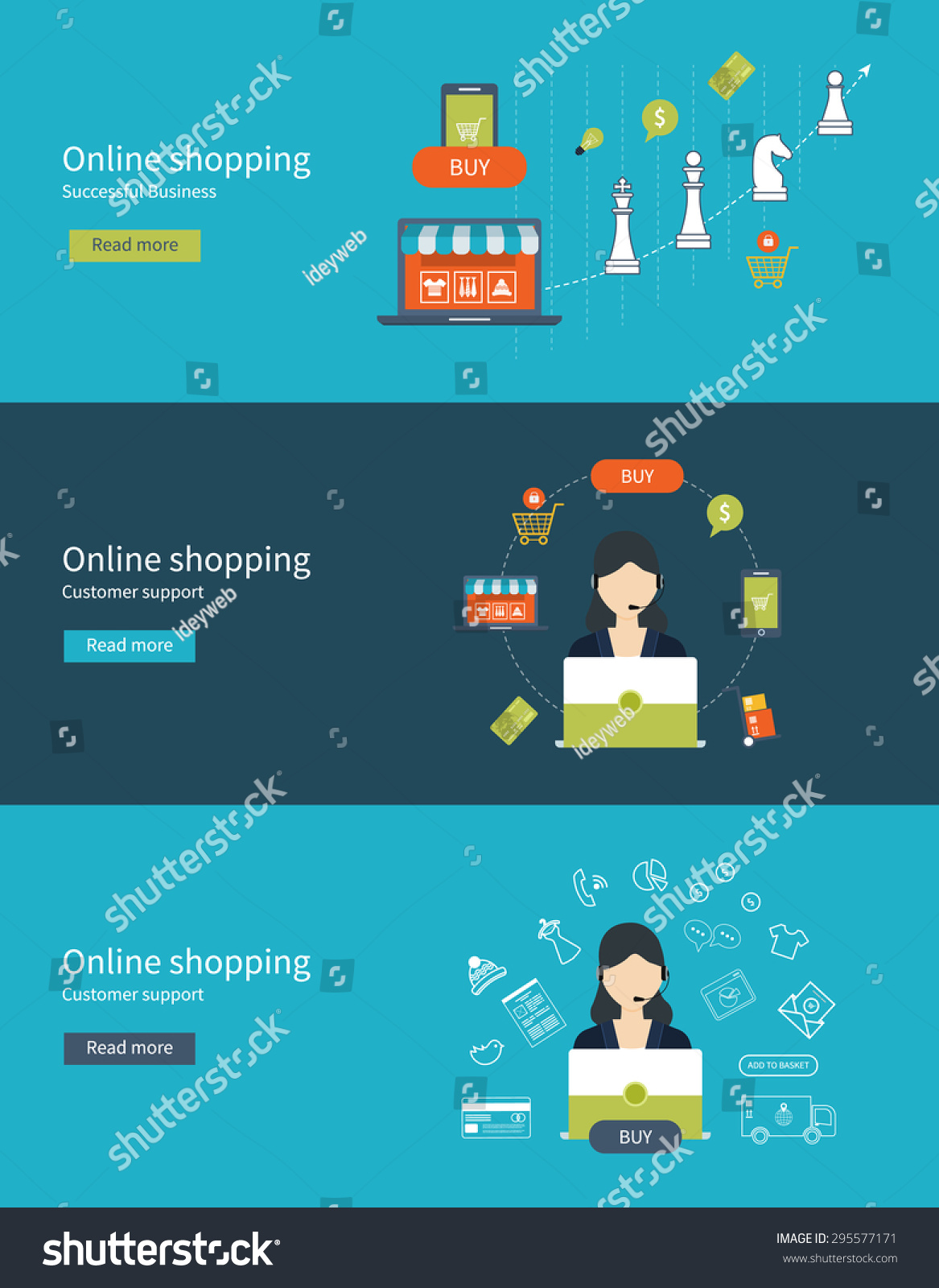 Mobile Marketing Online Store Concept Flat Stock Vector 295577171 ...