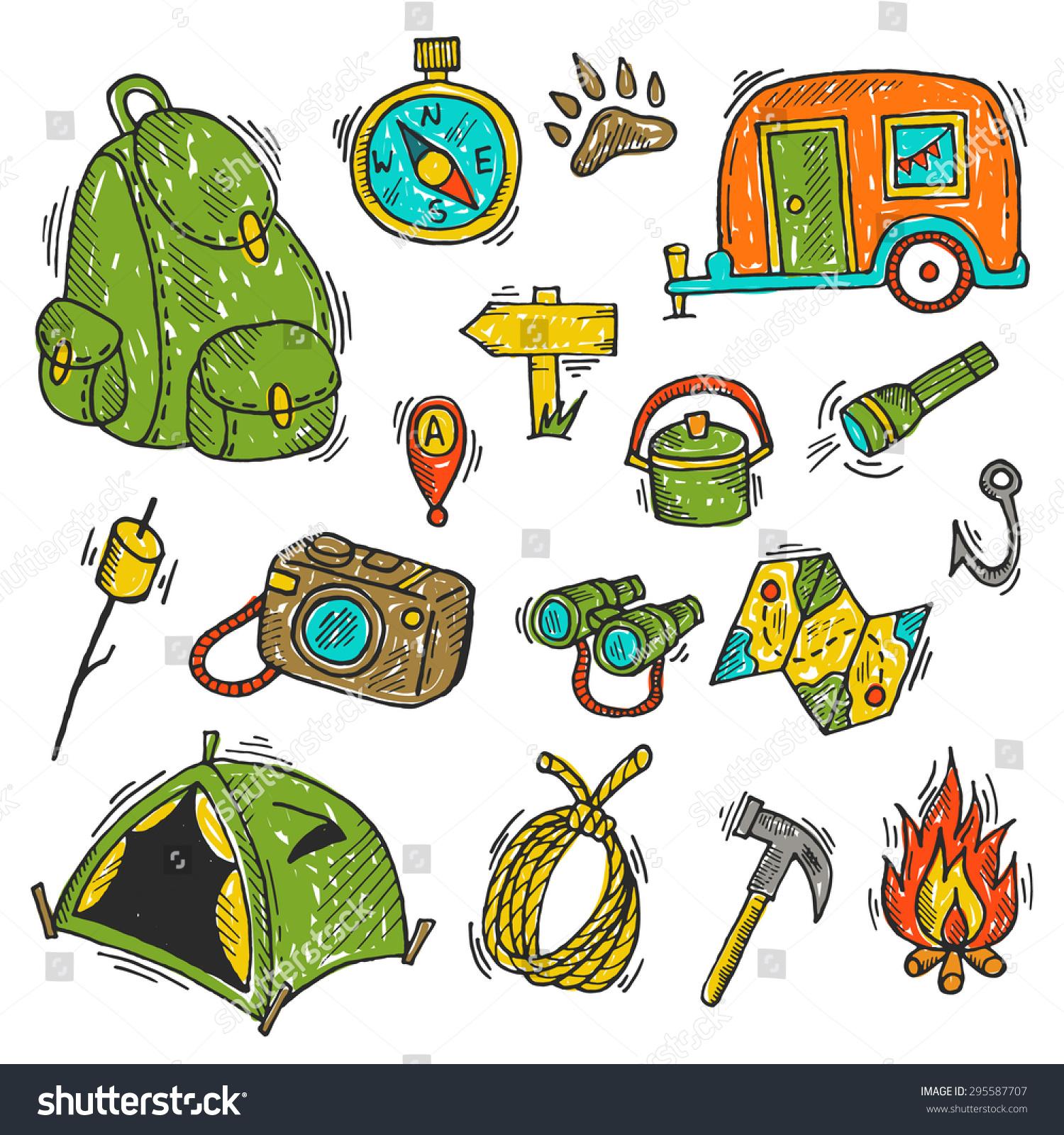 Camping flashlight clipart
