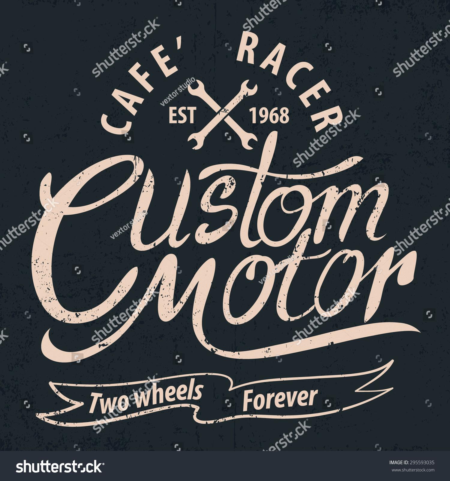 Design t shirt motor - Custom Motor Typographic For T Shirt Tee Design Poster Vector Illustration