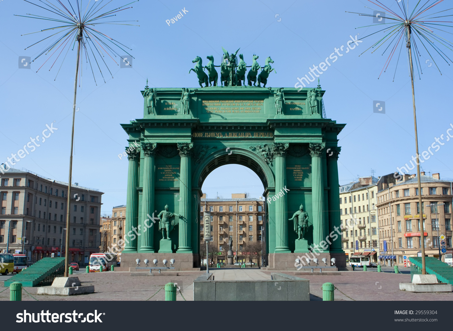 Narva Triumphal Gate in St. Petersburg 13
