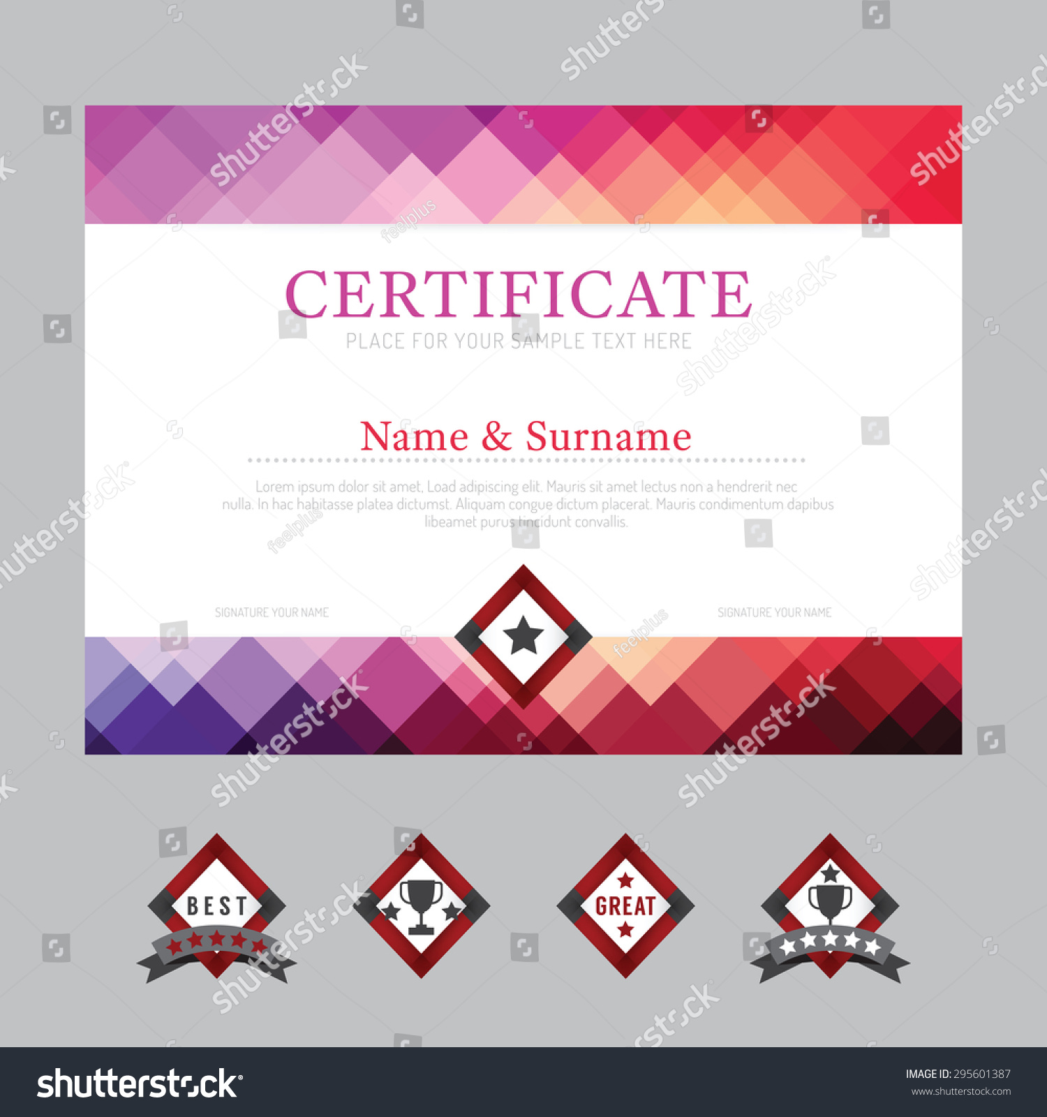Certificate template layout background frame design stock vector certificate template layout background frame design vector modern flat art style alramifo Choice Image