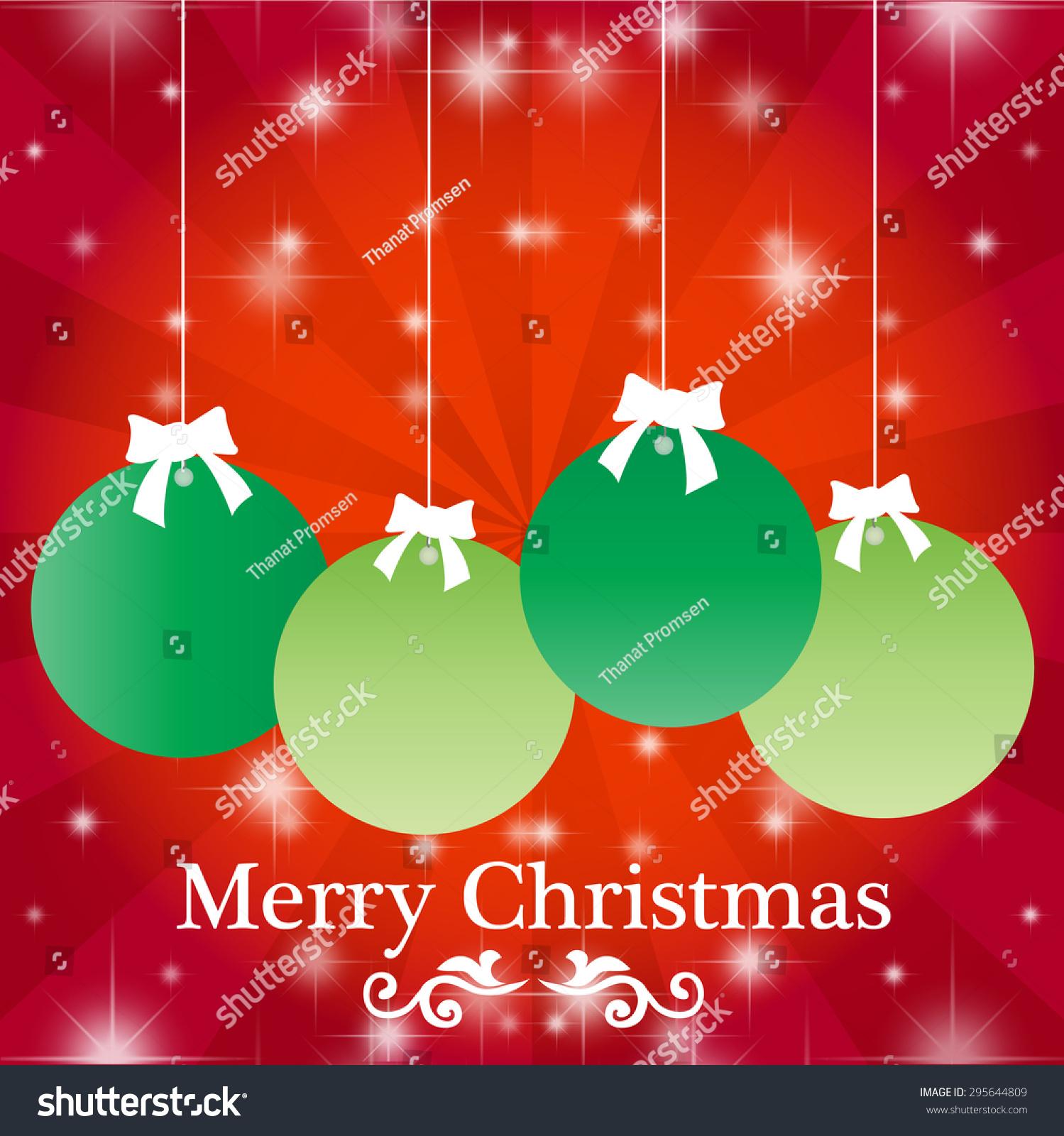 Christmas balls christmas greeting card merry stock vector royalty christmas balls christmas greeting card merry christmas lettering vector illustration m4hsunfo