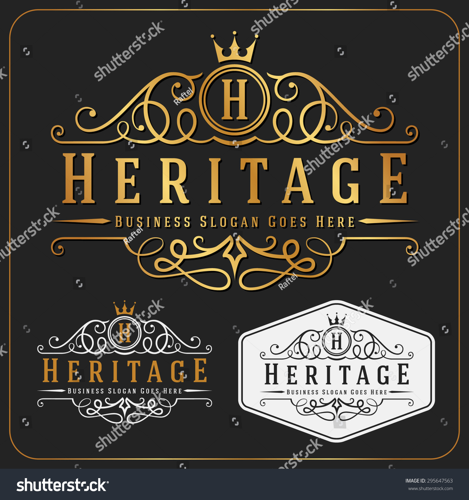 Luxurious royal logo vector re sizable design template for Hotel name design
